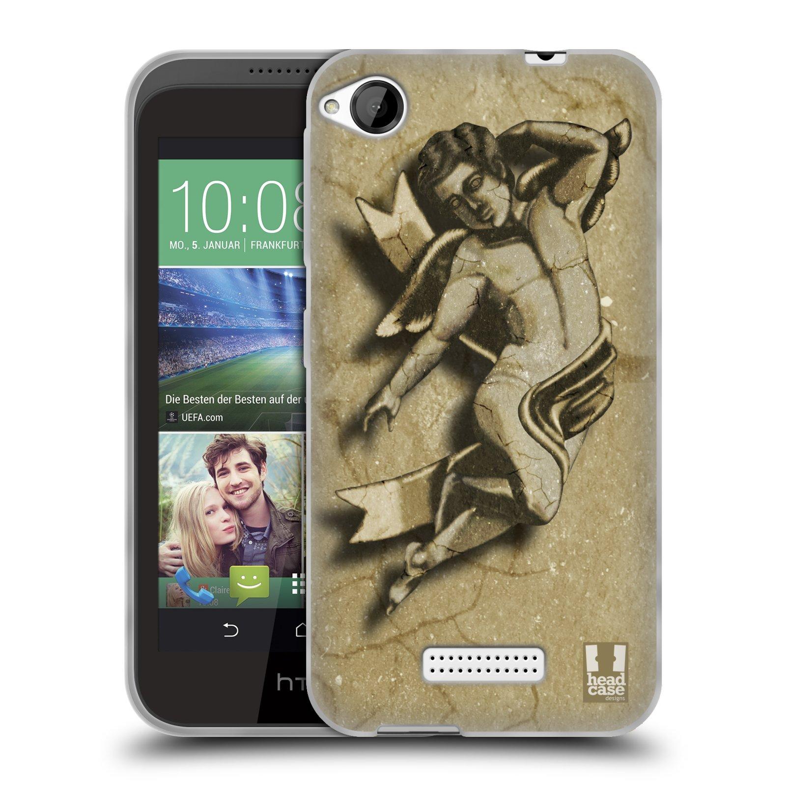 HEAD CASE silikonový obal na mobil HTC DESIRE 320 vzor Andělé z kamene LAYLAND