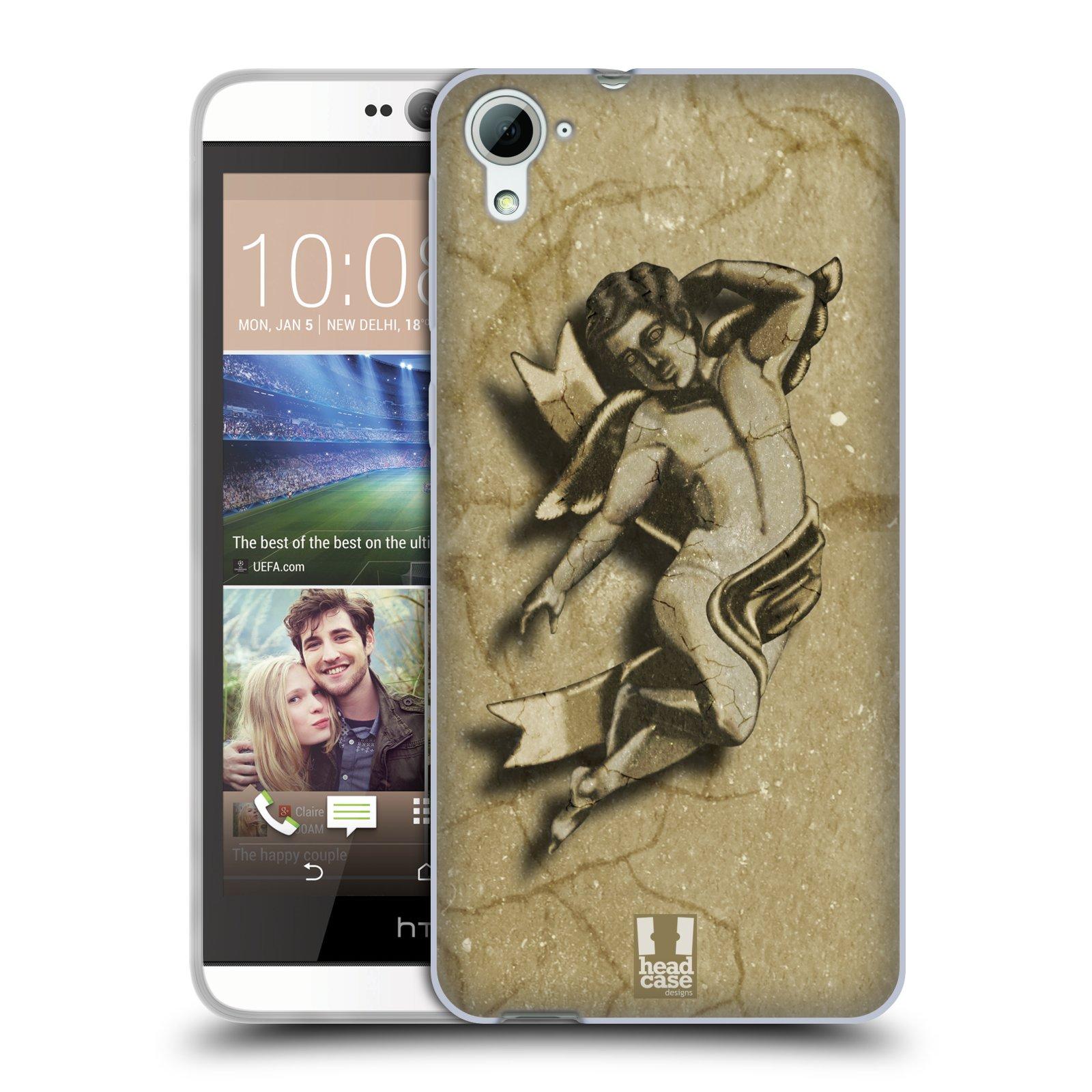 HEAD CASE silikonový obal na mobil HTC DESIRE 826 vzor Andělé z kamene LAYLAND