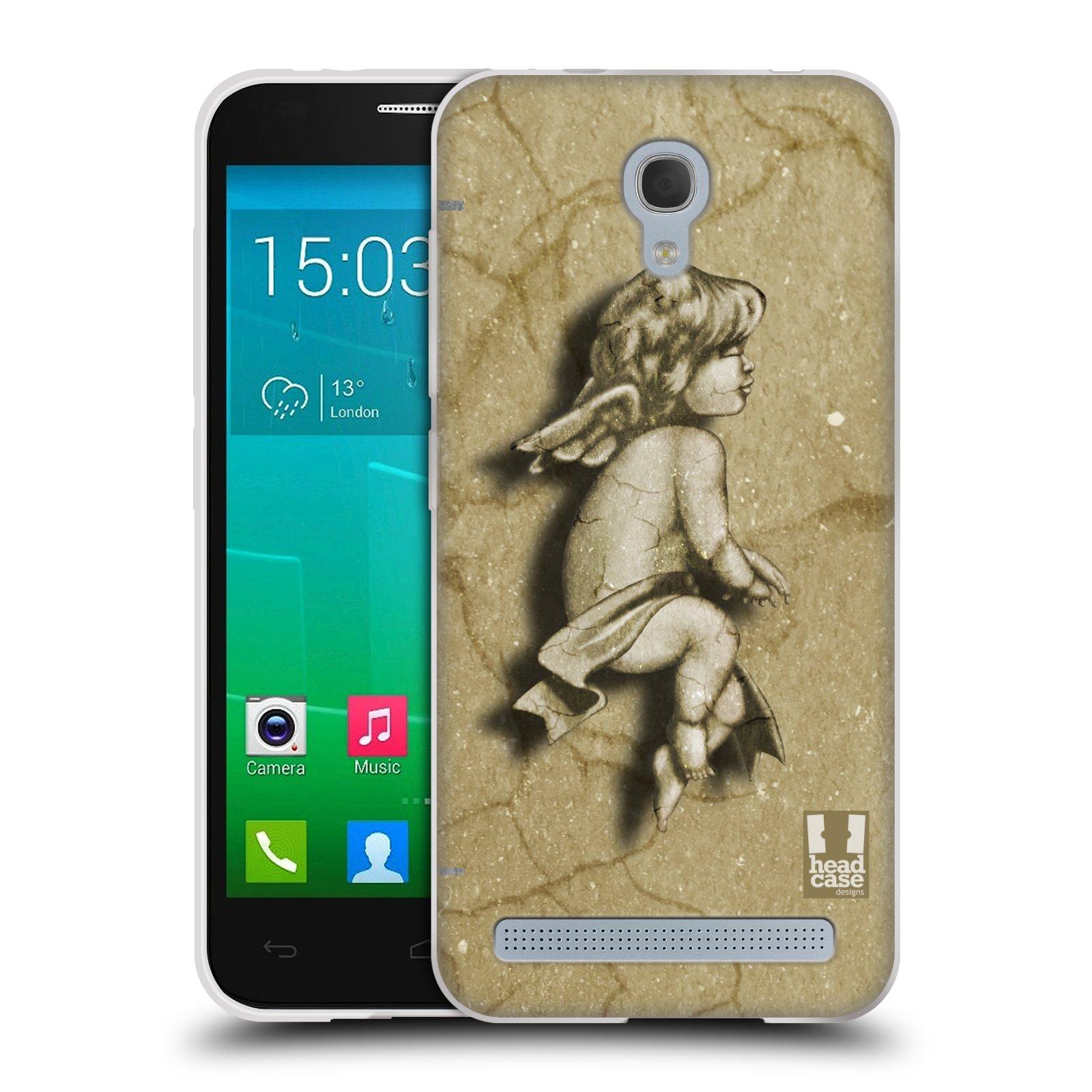 HEAD CASE silikonový obal na mobil Alcatel Idol 2 MINI S 6036Y vzor Andělé z kamene LAZAR