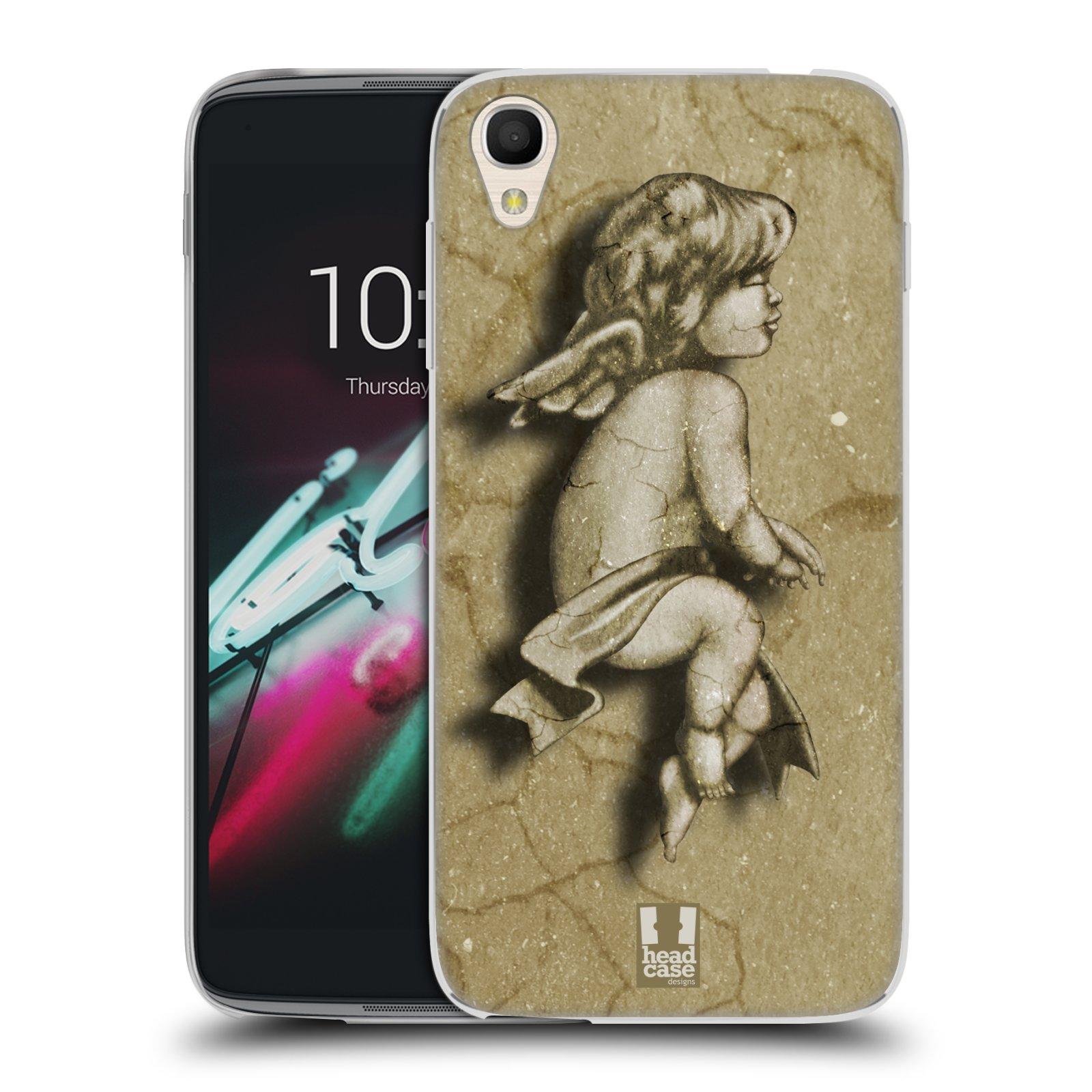 HEAD CASE silikonový obal na mobil Alcatel Idol 3 OT-6039Y (4.7) vzor Andělé z kamene LAZAR