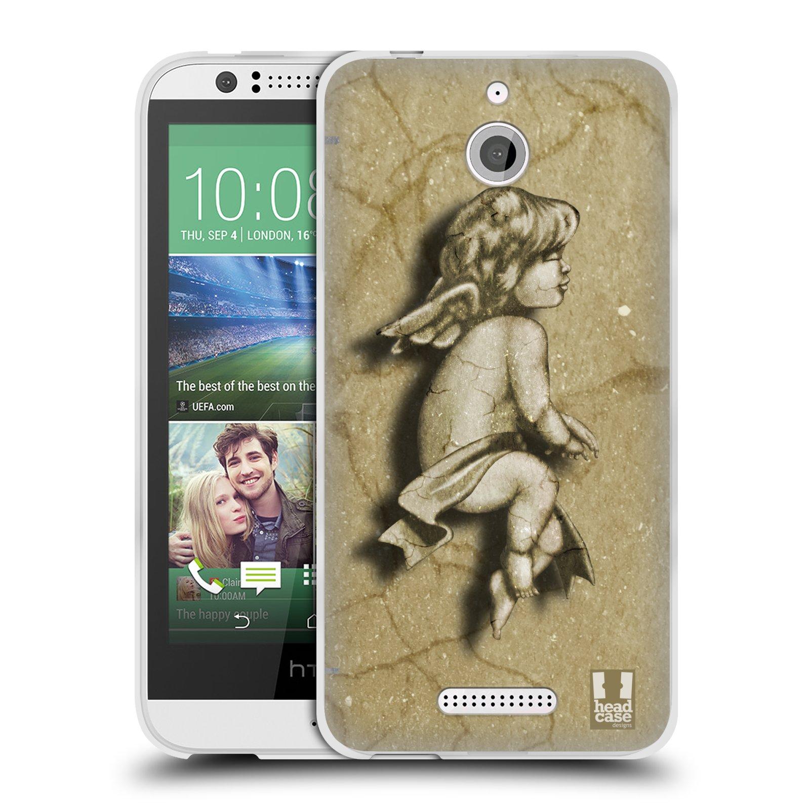 HEAD CASE silikonový obal HTC DESIRE 510 vzor Andělé z kamene LAZAR