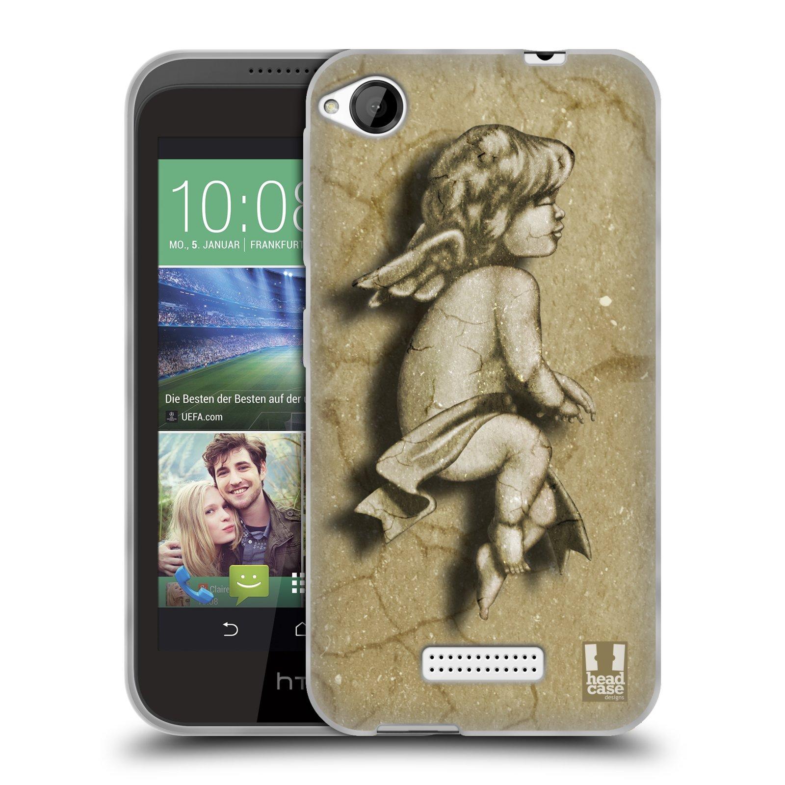 HEAD CASE silikonový obal na mobil HTC DESIRE 320 vzor Andělé z kamene LAZAR