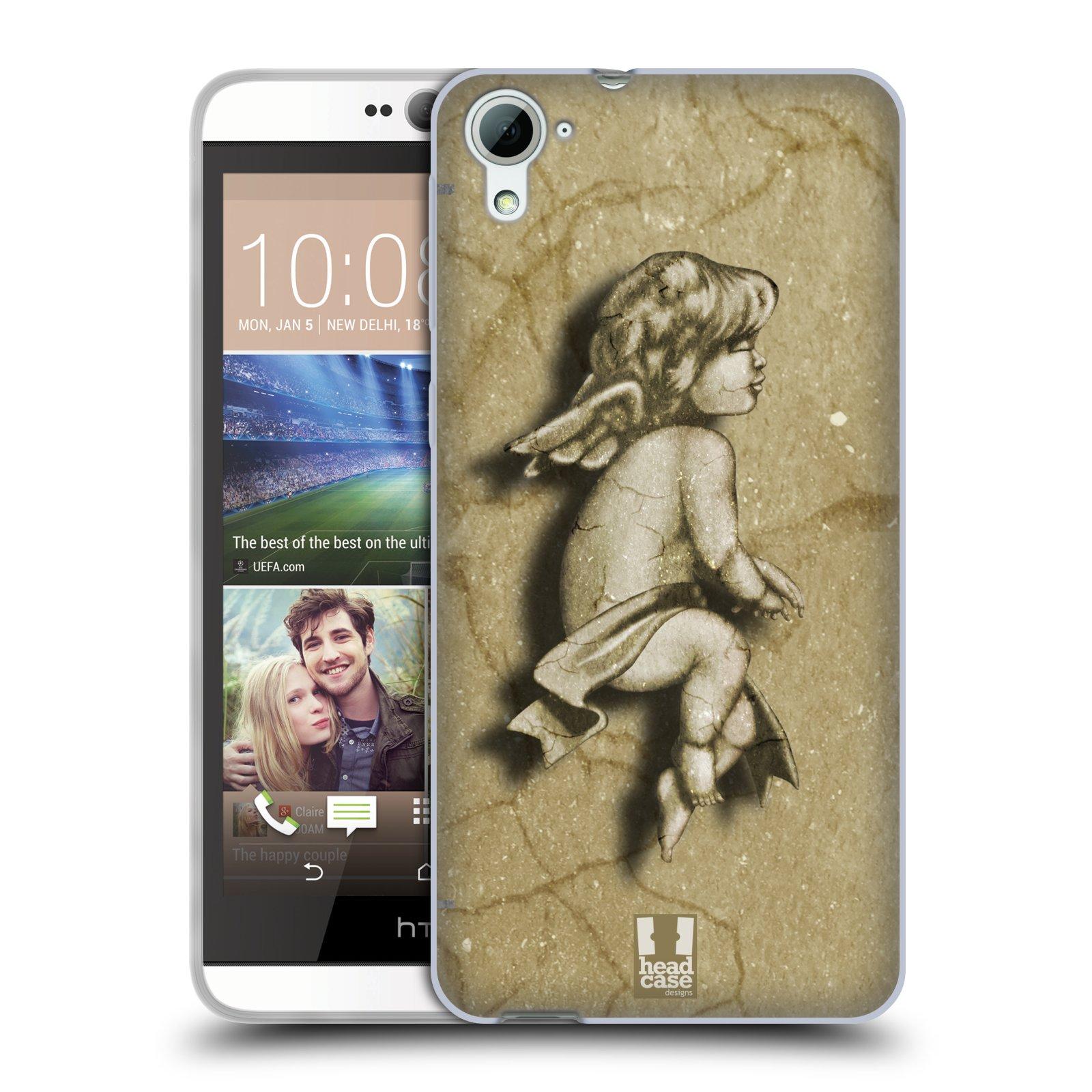 HEAD CASE silikonový obal na mobil HTC DESIRE 826 vzor Andělé z kamene LAZAR
