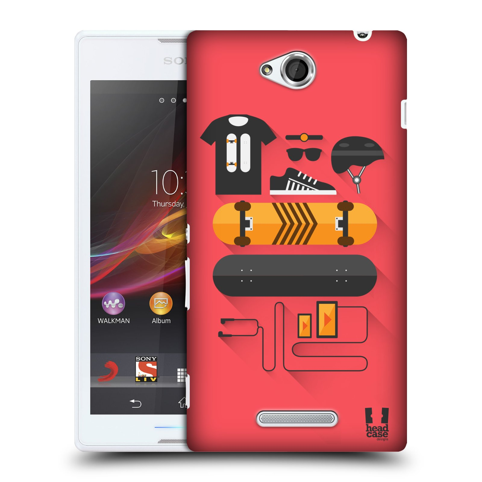HEAD CASE DESIGNS STARTER PACK HARD BACK CASE FOR SONY XPERIA C C2305