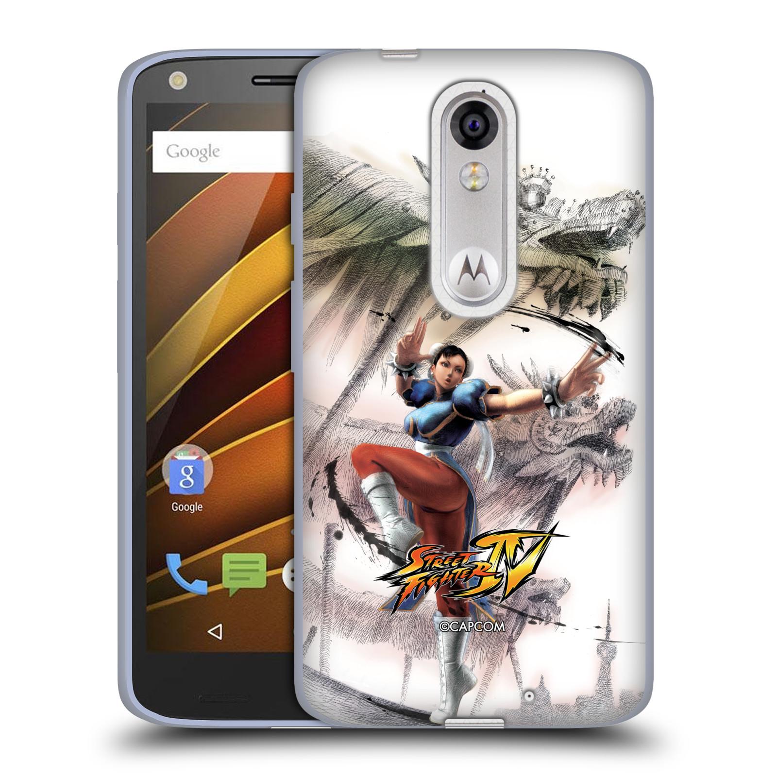 HEAD CASE silikonový obal na mobil Lenovo Moto X Force oficiální kryt STREET FIGHTER bojovnice Chun-Li kresba