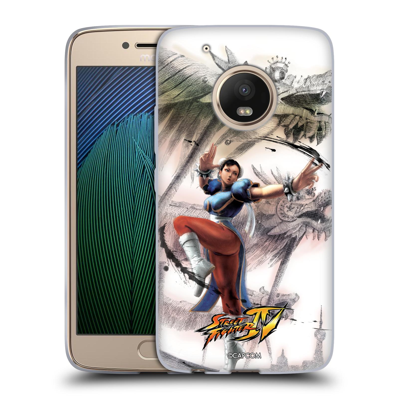 HEAD CASE silikonový obal na mobil Lenovo Moto G5 PLUS oficiální kryt STREET FIGHTER bojovnice Chun-Li kresba