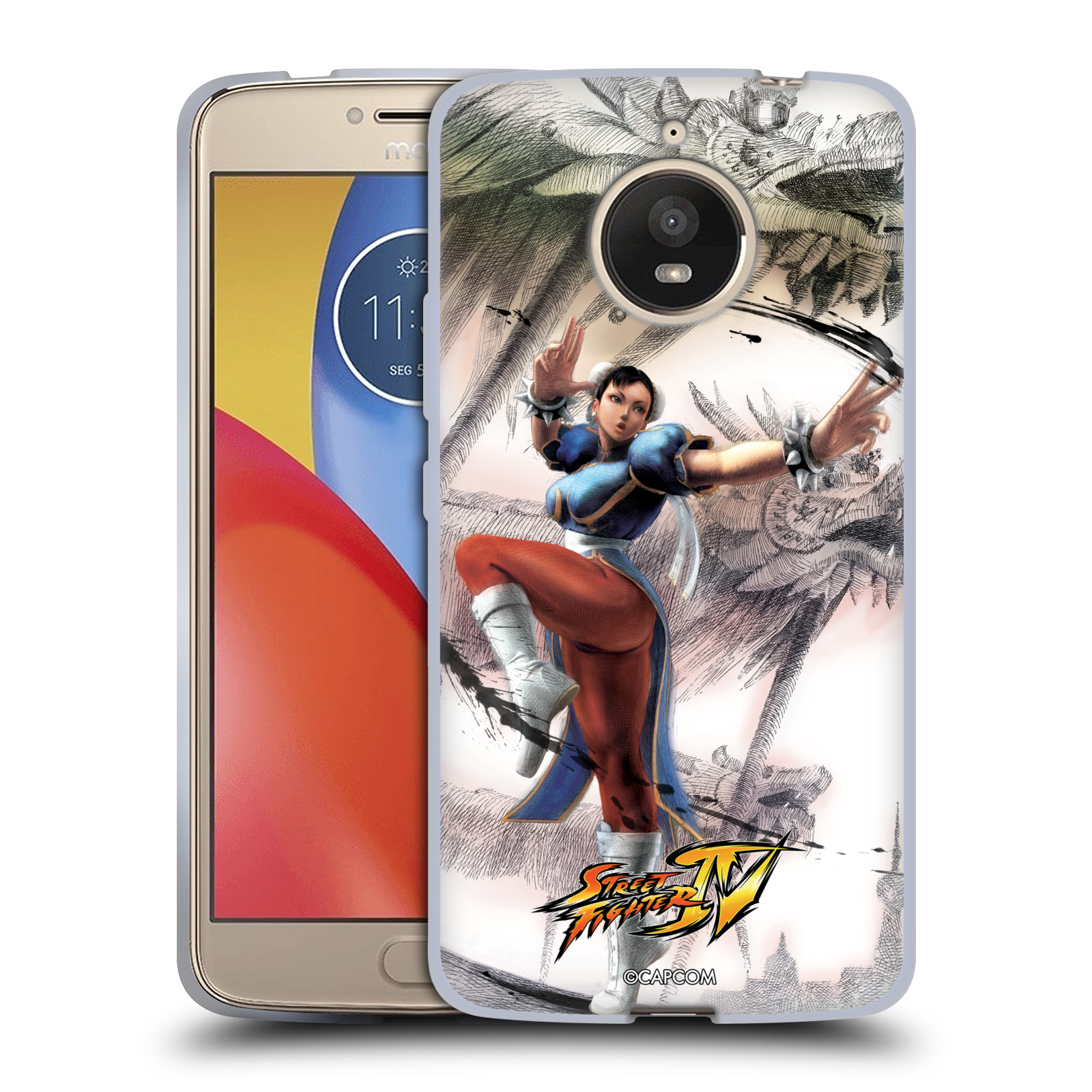 HEAD CASE silikonový obal na mobil Lenovo Moto E4 PLUS oficiální kryt STREET FIGHTER bojovnice Chun-Li kresba