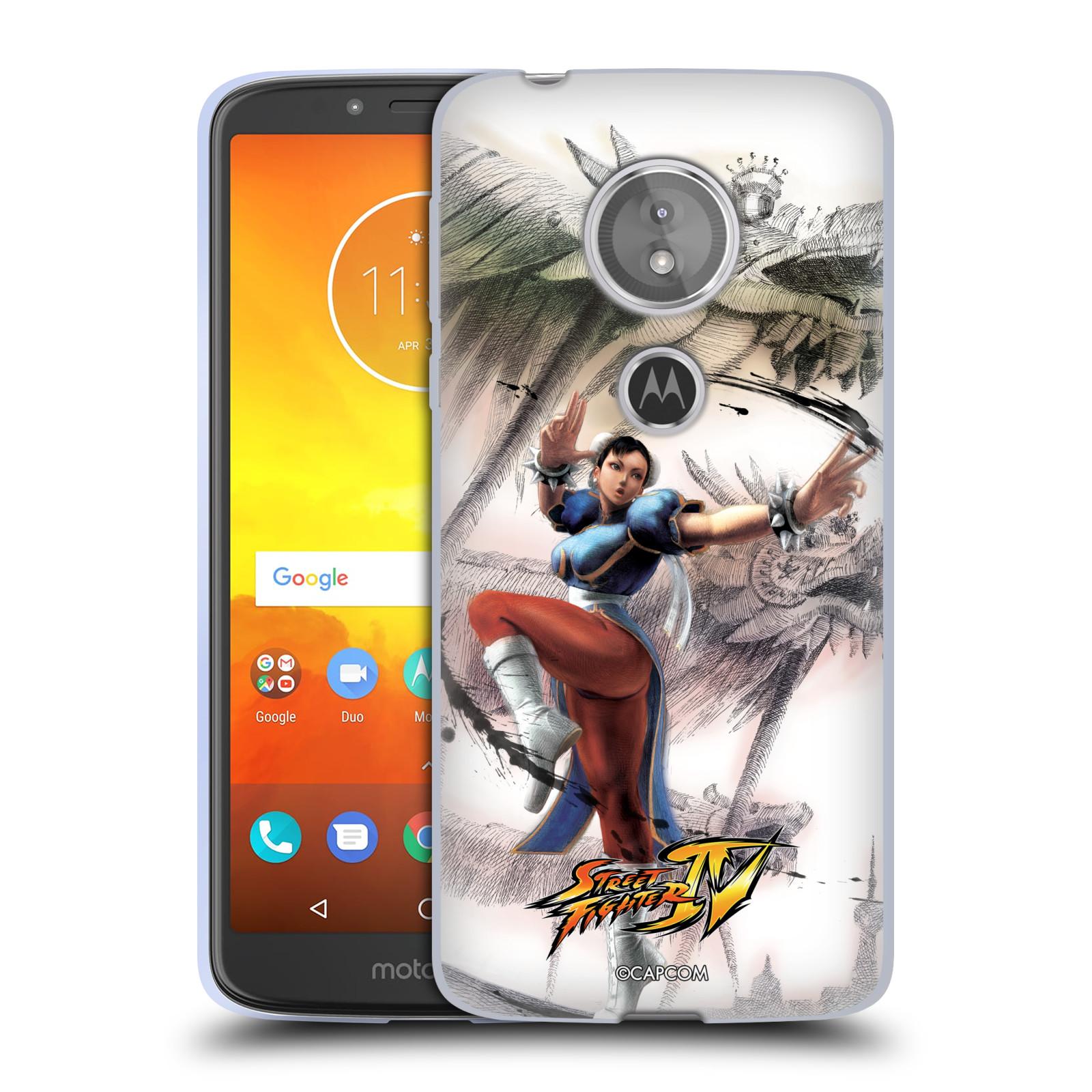 HEAD CASE silikonový obal na mobil Motorola Moto E5 oficiální kryt STREET FIGHTER bojovnice Chun-Li kresba