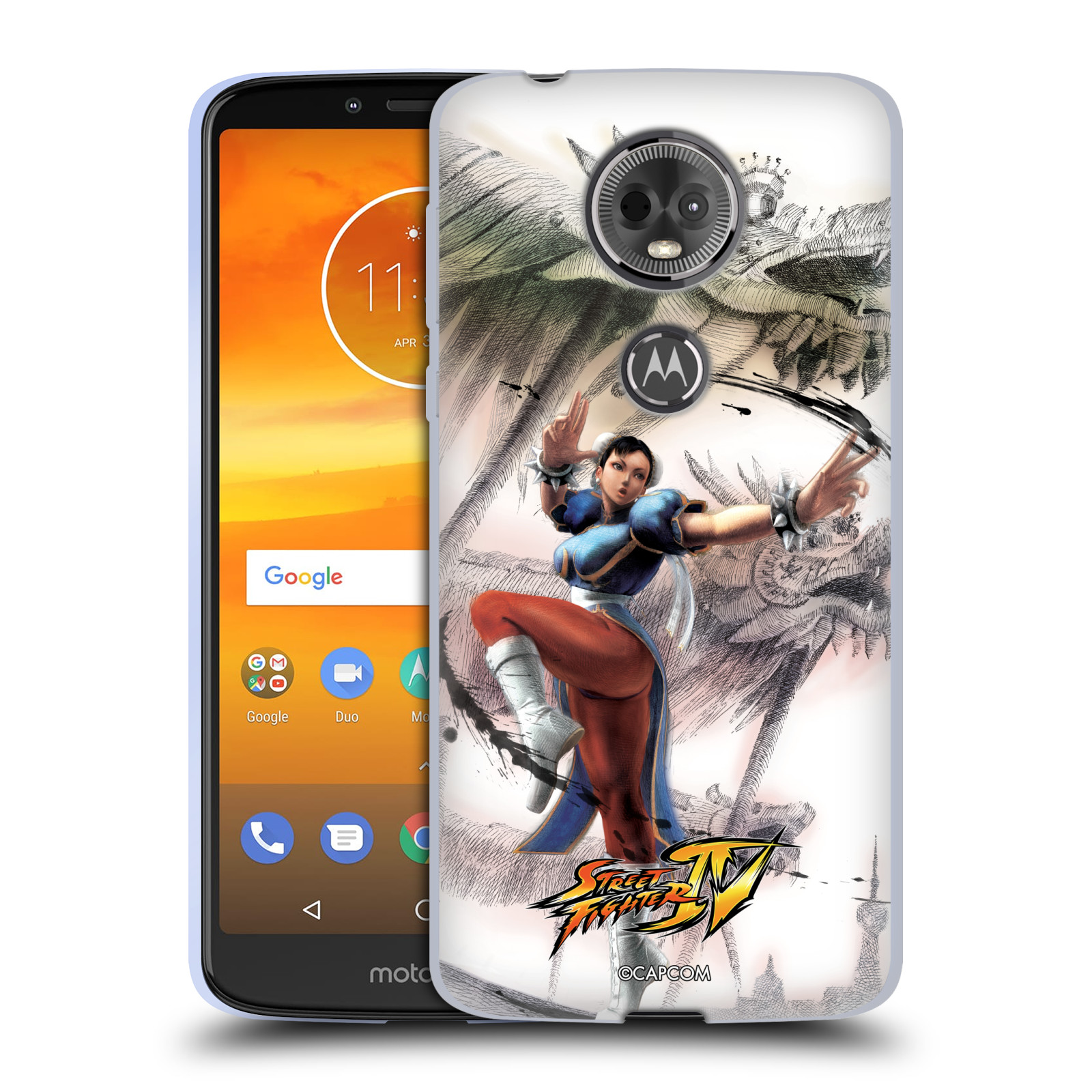 HEAD CASE silikonový obal na mobil Motorola Moto E5 PLUS oficiální kryt STREET FIGHTER bojovnice Chun-Li kresba