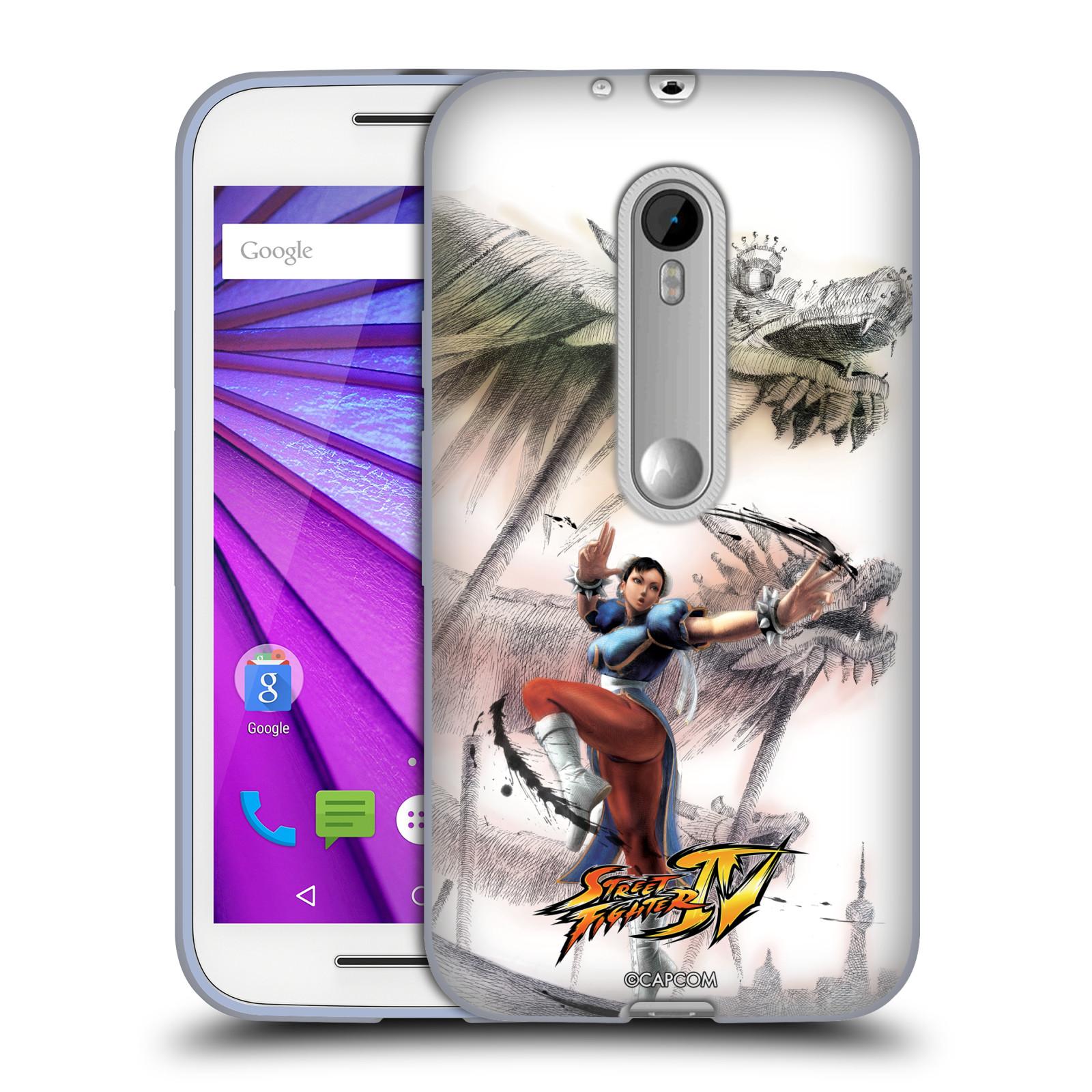 HEAD CASE silikonový obal na mobil Lenovo Moto G (3. generace) oficiální kryt STREET FIGHTER bojovnice Chun-Li kresba