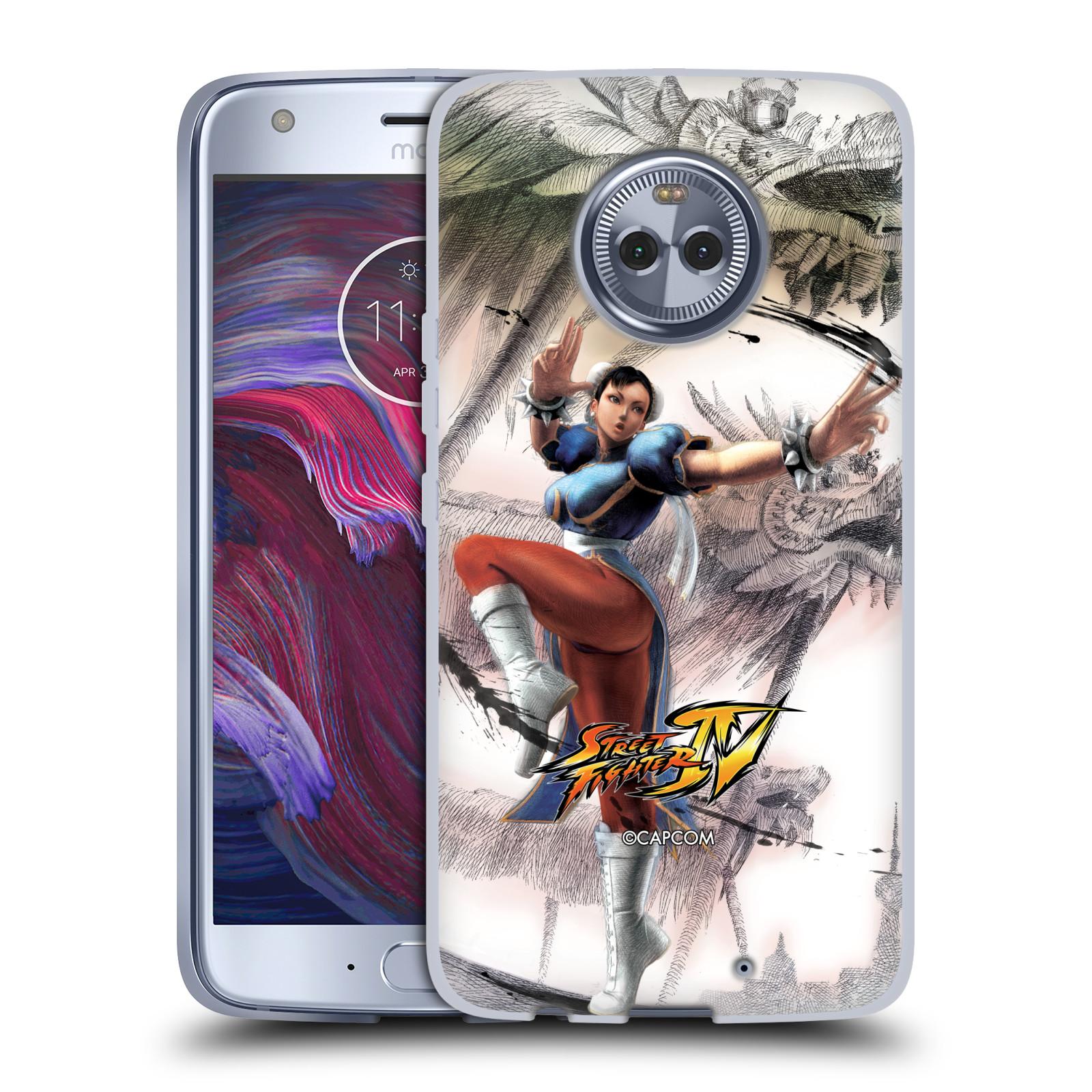 HEAD CASE silikonový obal na mobil Motorola Moto X4 oficiální kryt STREET FIGHTER bojovnice Chun-Li kresba