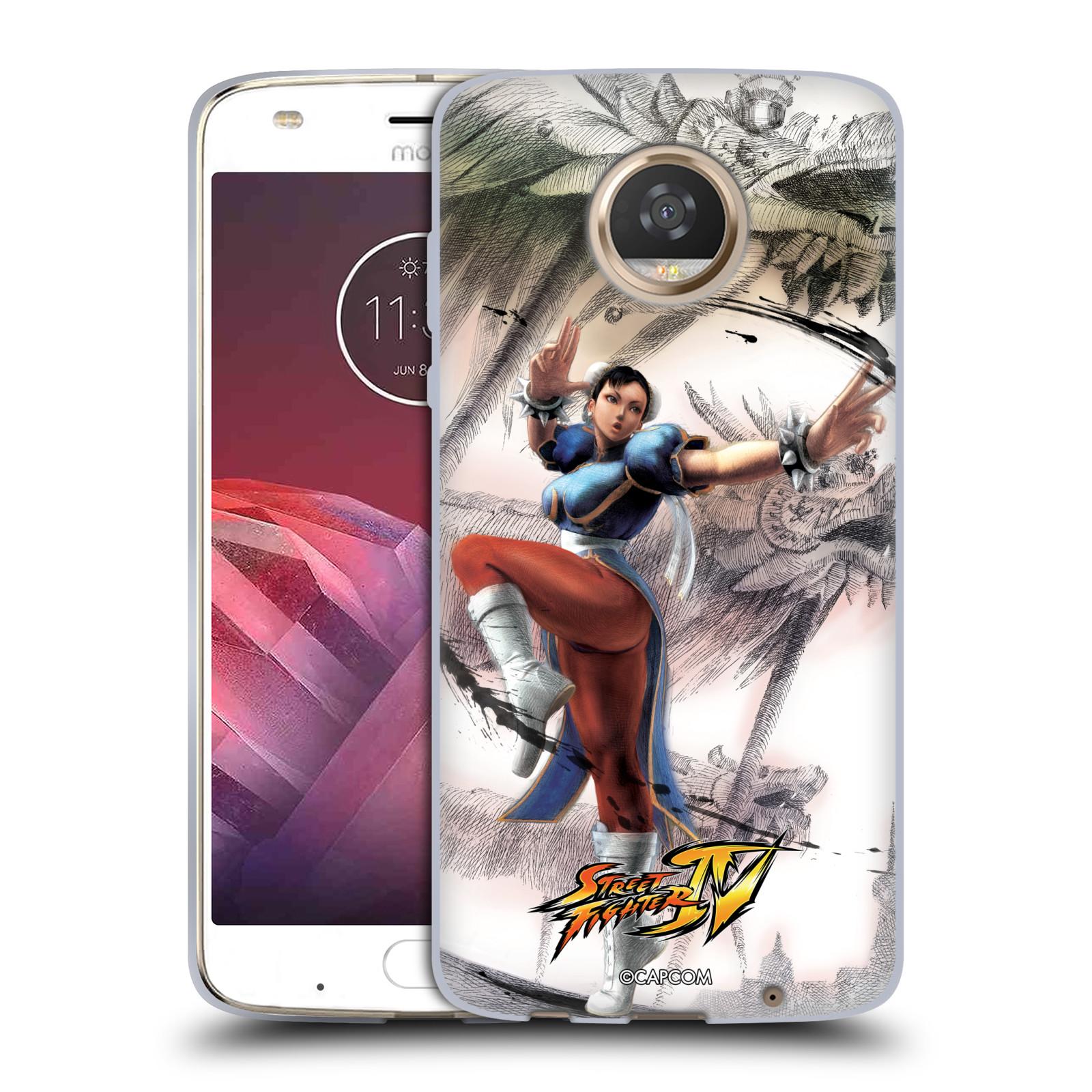 HEAD CASE silikonový obal na mobil Motorola Moto Z2 PLAY oficiální kryt STREET FIGHTER bojovnice Chun-Li kresba