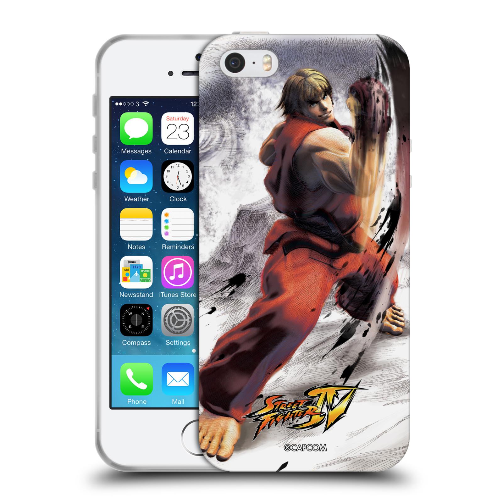 HEAD CASE silikonový obal na mobil Apple Iphone 5/5S oficiální kryt STREET FIGHTER bojovník Ken kresba