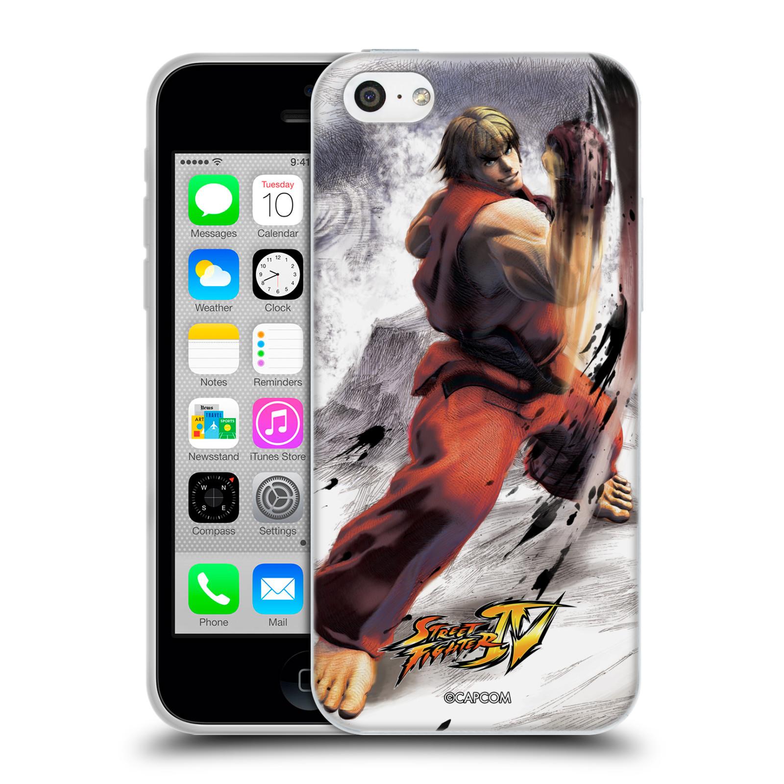 HEAD CASE silikonový obal na mobil Apple Iphone 5C oficiální kryt STREET FIGHTER bojovník Ken kresba