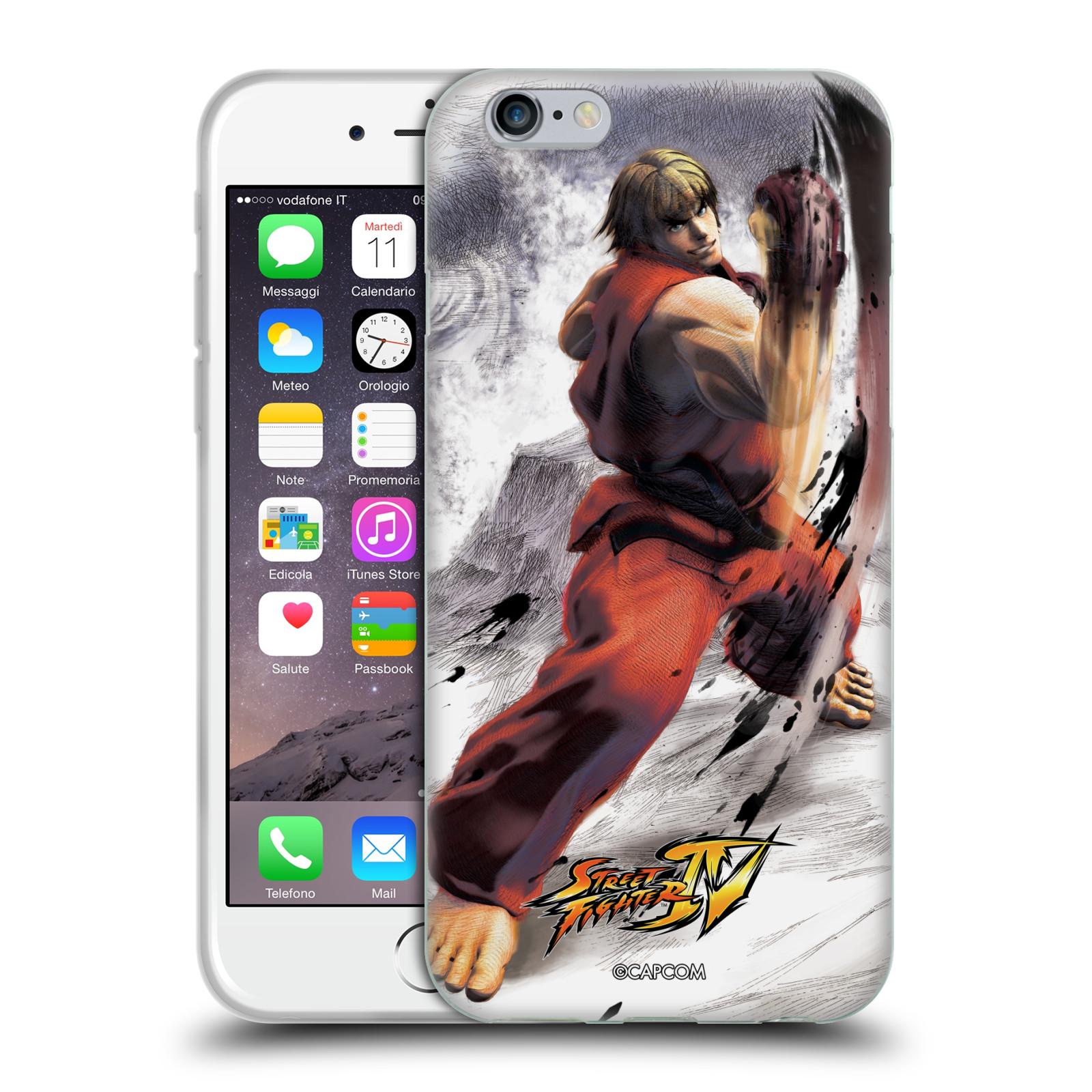 HEAD CASE silikonový obal na mobil Apple Iphone 6/6S oficiální kryt STREET FIGHTER bojovník Ken kresba
