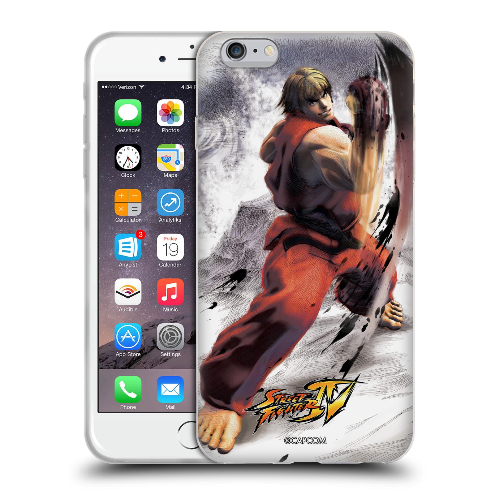HEAD CASE silikonový obal na mobil Apple Iphone 6/6S PLUS oficiální kryt STREET FIGHTER bojovník Ken kresba