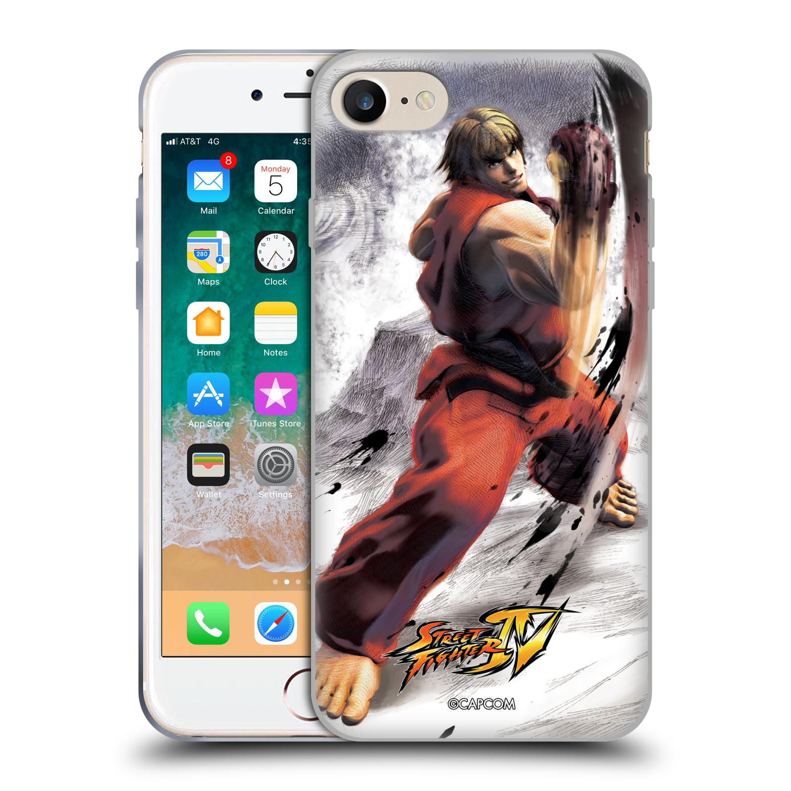 HEAD CASE silikonový obal na mobil Apple Iphone 7 oficiální kryt STREET FIGHTER bojovník Ken kresba