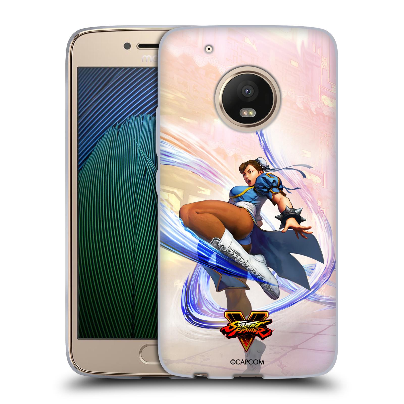 HEAD CASE silikonový obal na mobil Lenovo Moto G5 PLUS oficiální kryt STREET FIGHTER bojovnice Chun-Li