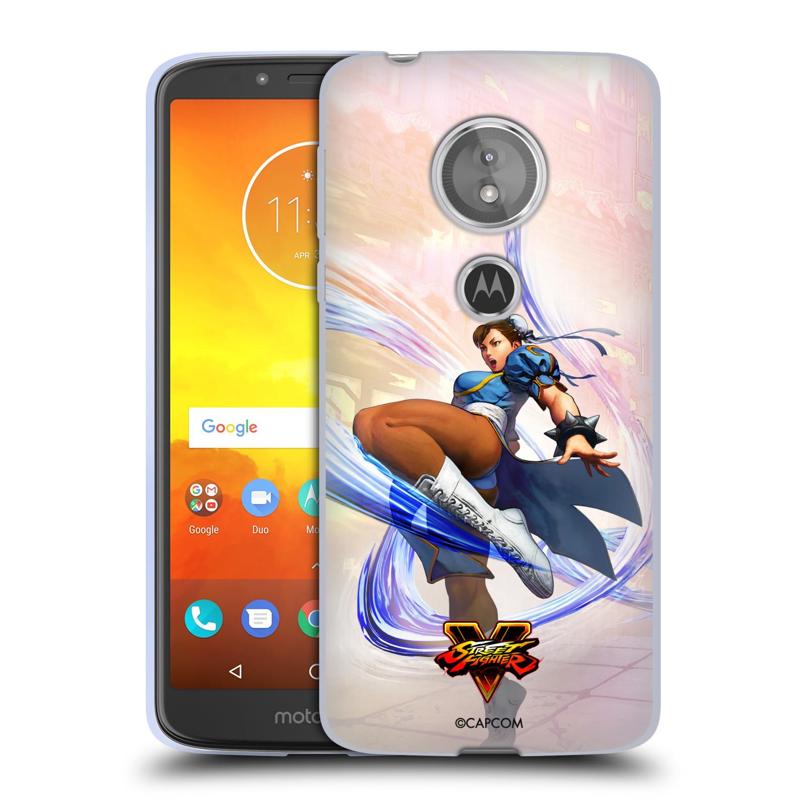 HEAD CASE silikonový obal na mobil Motorola Moto E5 oficiální kryt STREET FIGHTER bojovnice Chun-Li