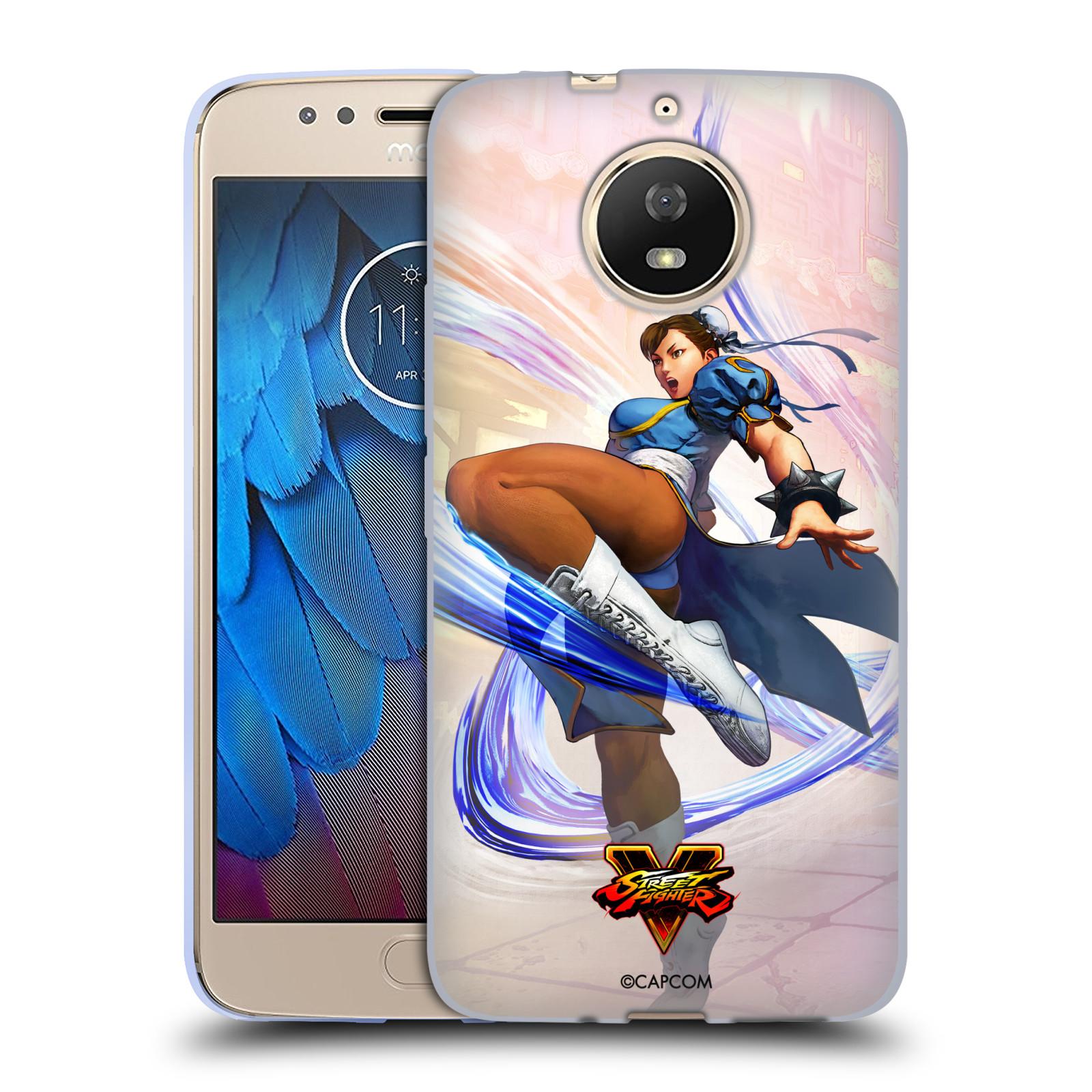 HEAD CASE silikonový obal na mobil Lenovo Moto G5s oficiální kryt STREET FIGHTER bojovnice Chun-Li