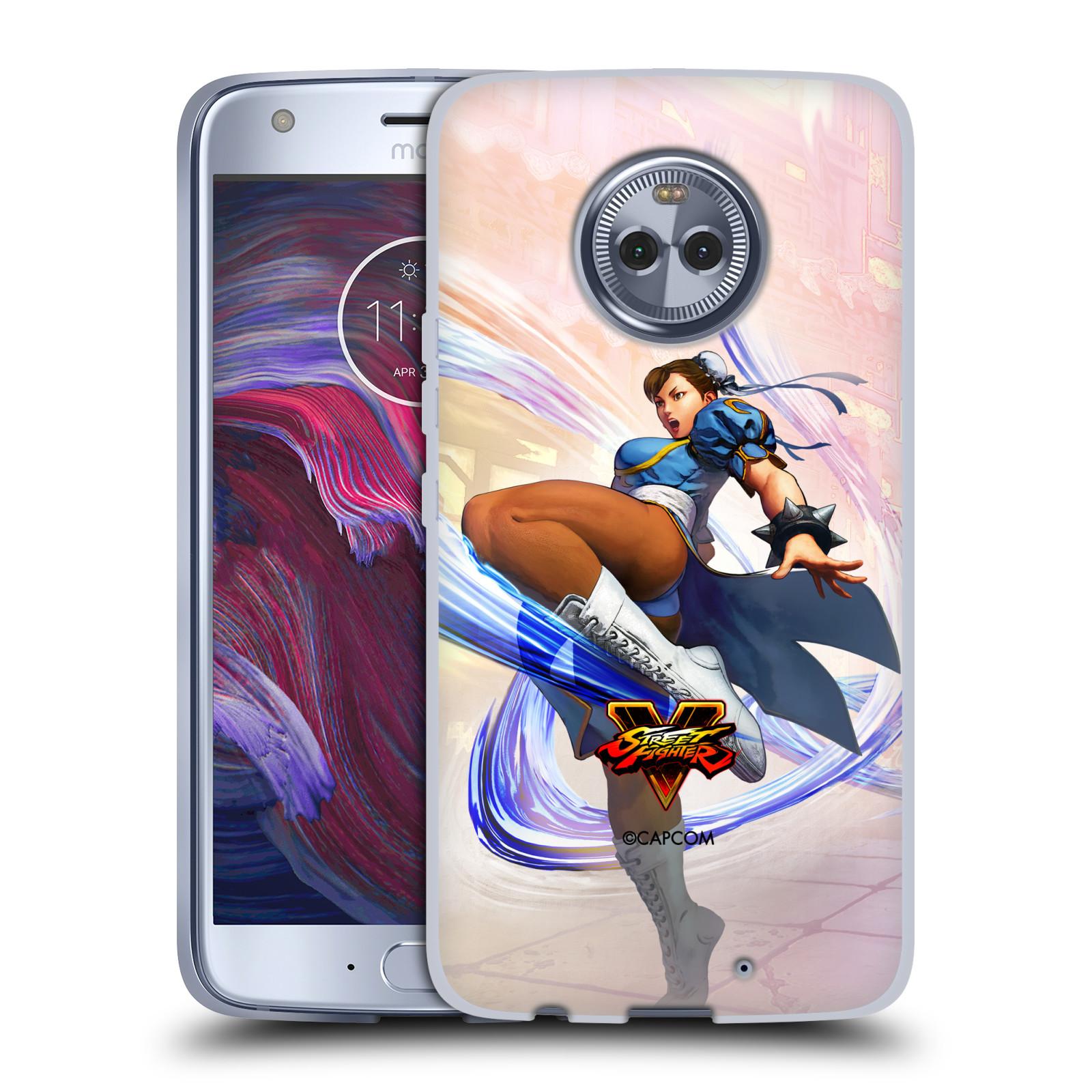 HEAD CASE silikonový obal na mobil Motorola Moto X4 oficiální kryt STREET FIGHTER bojovnice Chun-Li