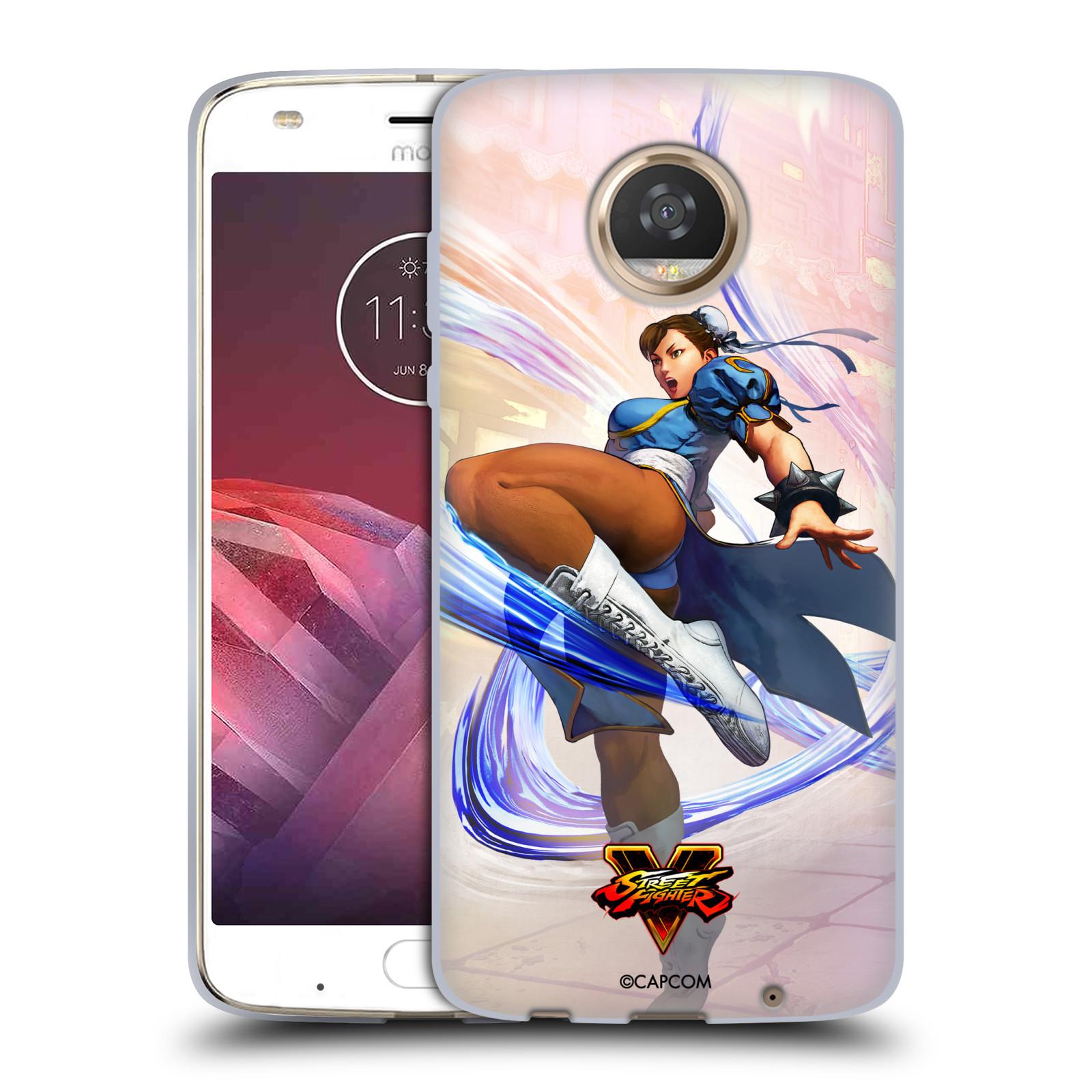 HEAD CASE silikonový obal na mobil Motorola Moto Z2 PLAY oficiální kryt STREET FIGHTER bojovnice Chun-Li