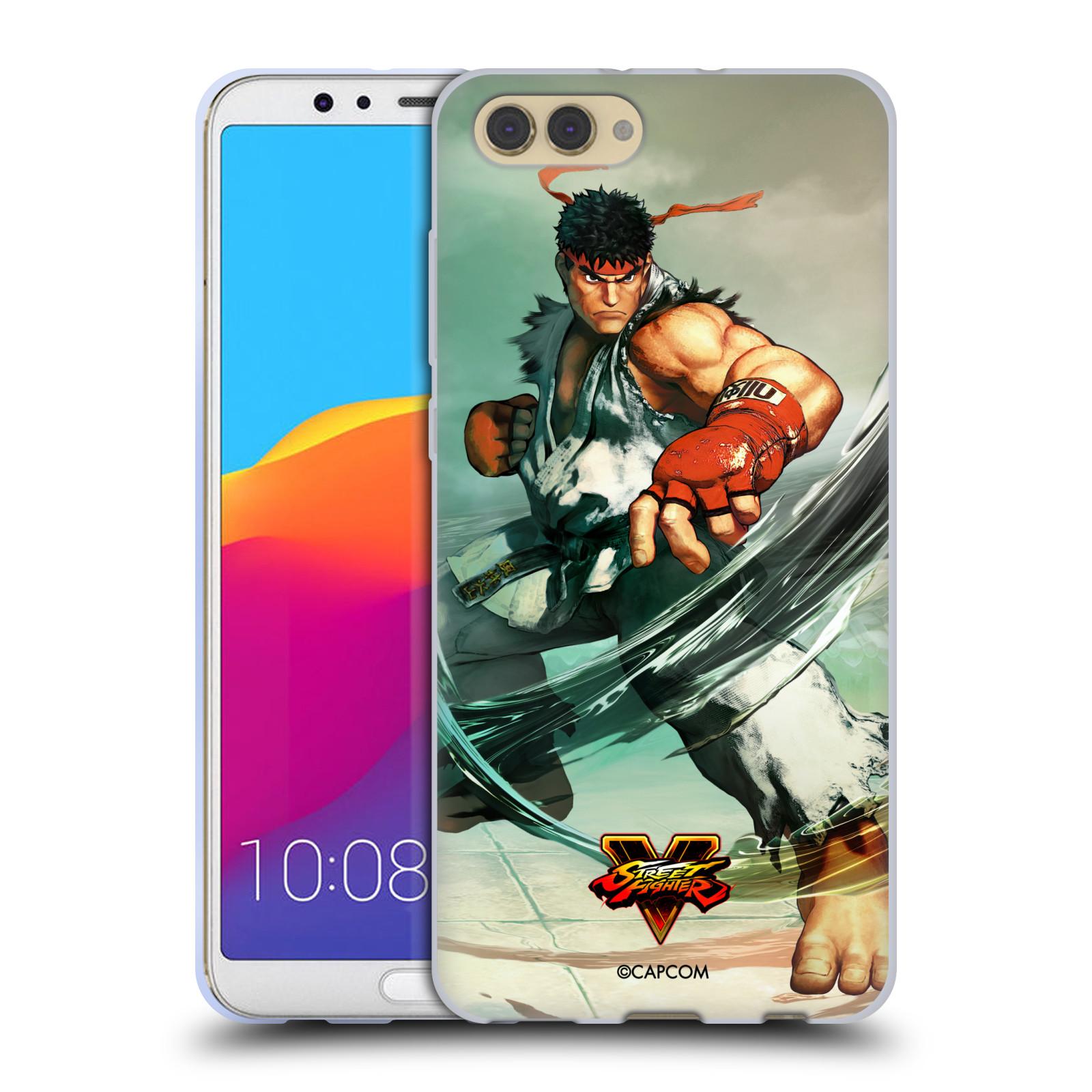 HEAD CASE silikonový obal na mobil Huawei HONOR VIEW 10 / V10 oficiální kryt STREET FIGHTER pouliční bojovník RYU