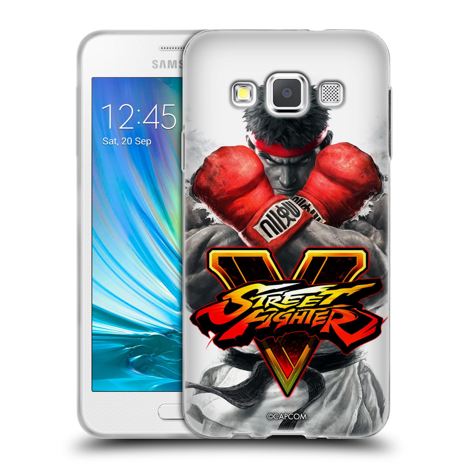 HEAD CASE silikonový obal na mobil Samsung Galaxy A3 (A300) oficiální kryt STREET FIGHTER Boxer Ryu