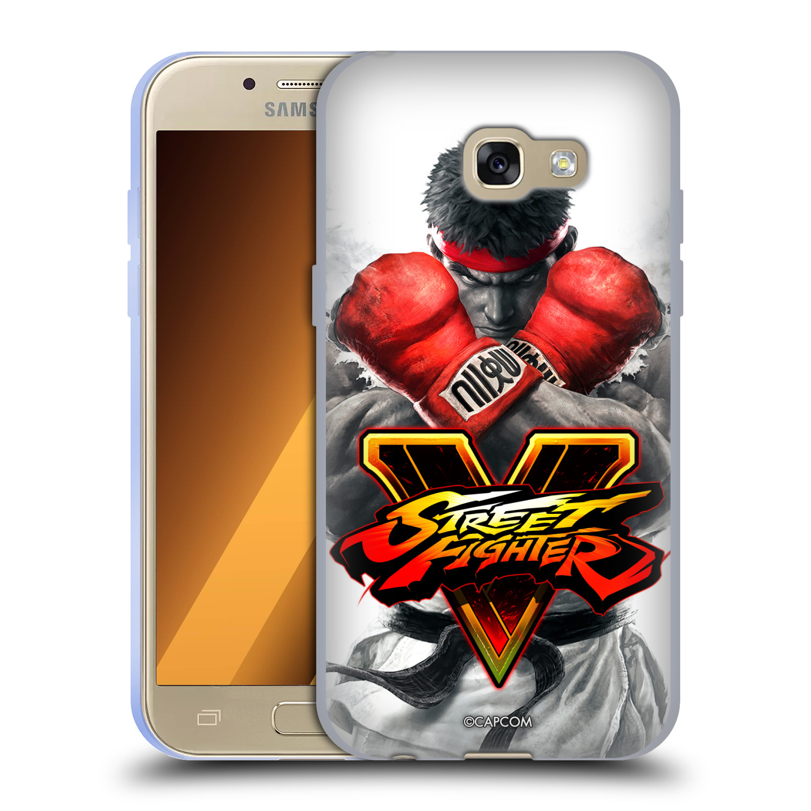 HEAD CASE silikonový obal na mobil Samsung Galaxy A3 2017 (A320) oficiální kryt STREET FIGHTER Boxer Ryu