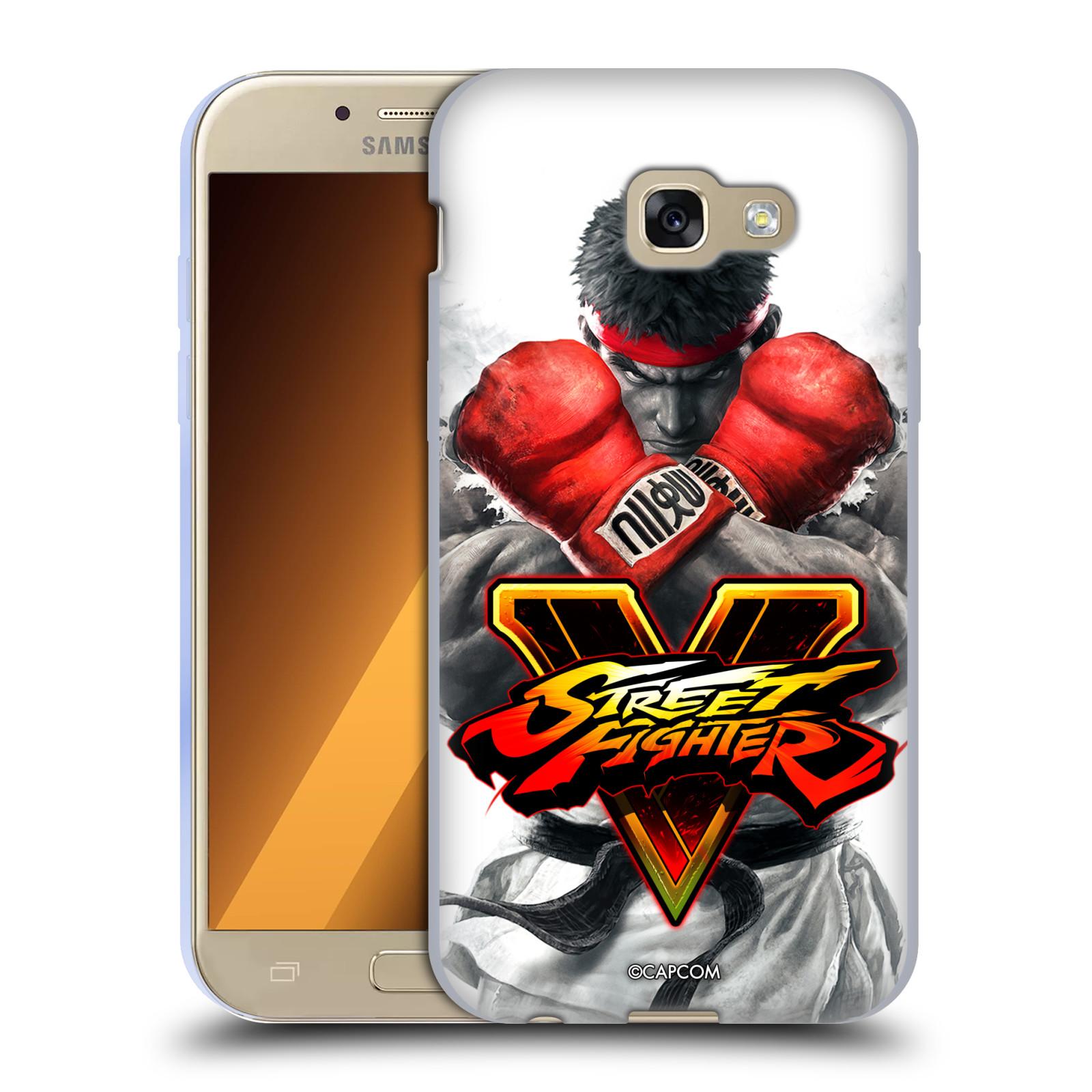 HEAD CASE silikonový obal na mobil Samsung Galaxy A5 2017 (A520) oficiální kryt STREET FIGHTER Boxer Ryu
