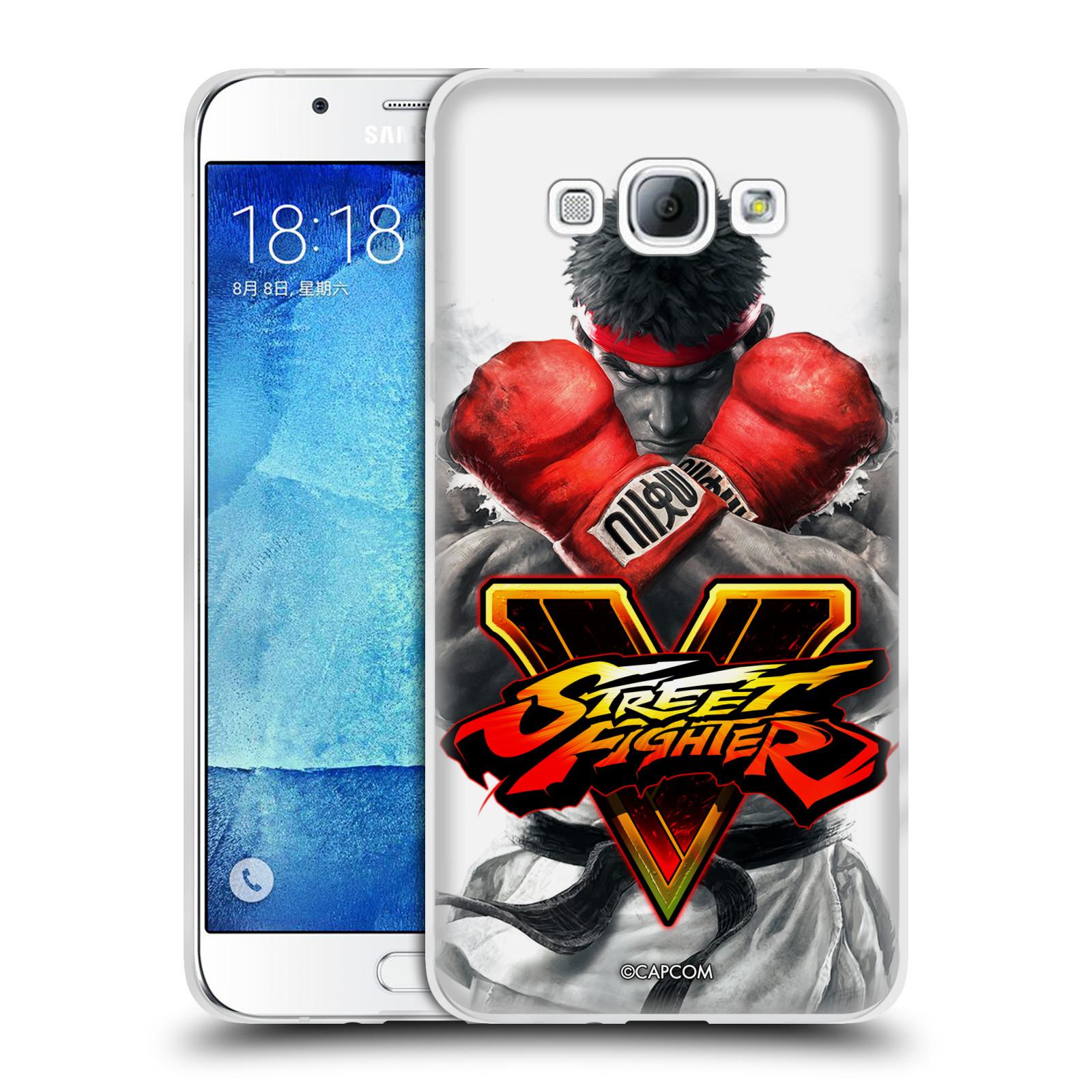 HEAD CASE silikonový obal na mobil Samsung Galaxy A8 2015 oficiální kryt STREET FIGHTER Boxer Ryu