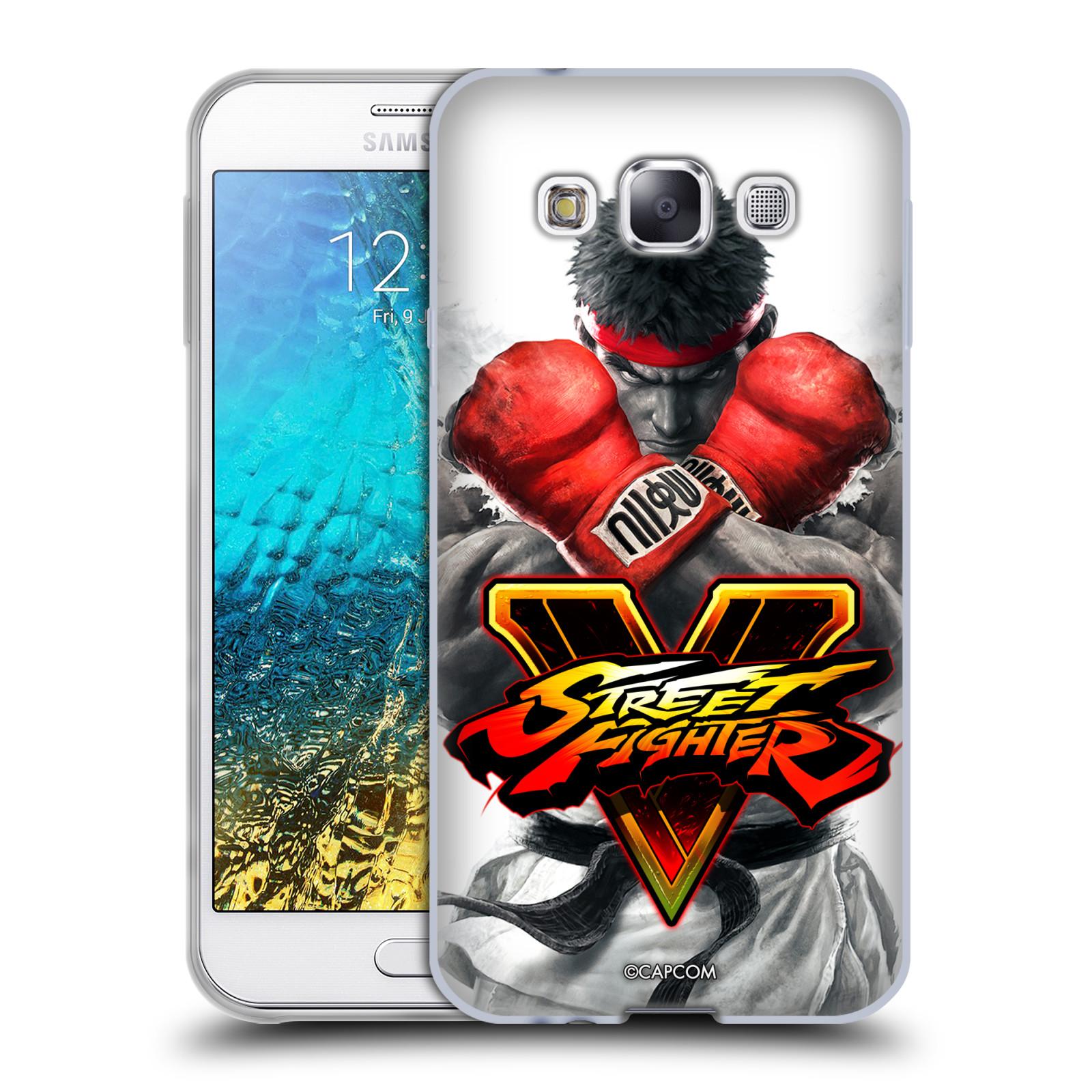 HEAD CASE silikonový obal na mobil Samsung Galaxy E5 oficiální kryt STREET FIGHTER Boxer Ryu