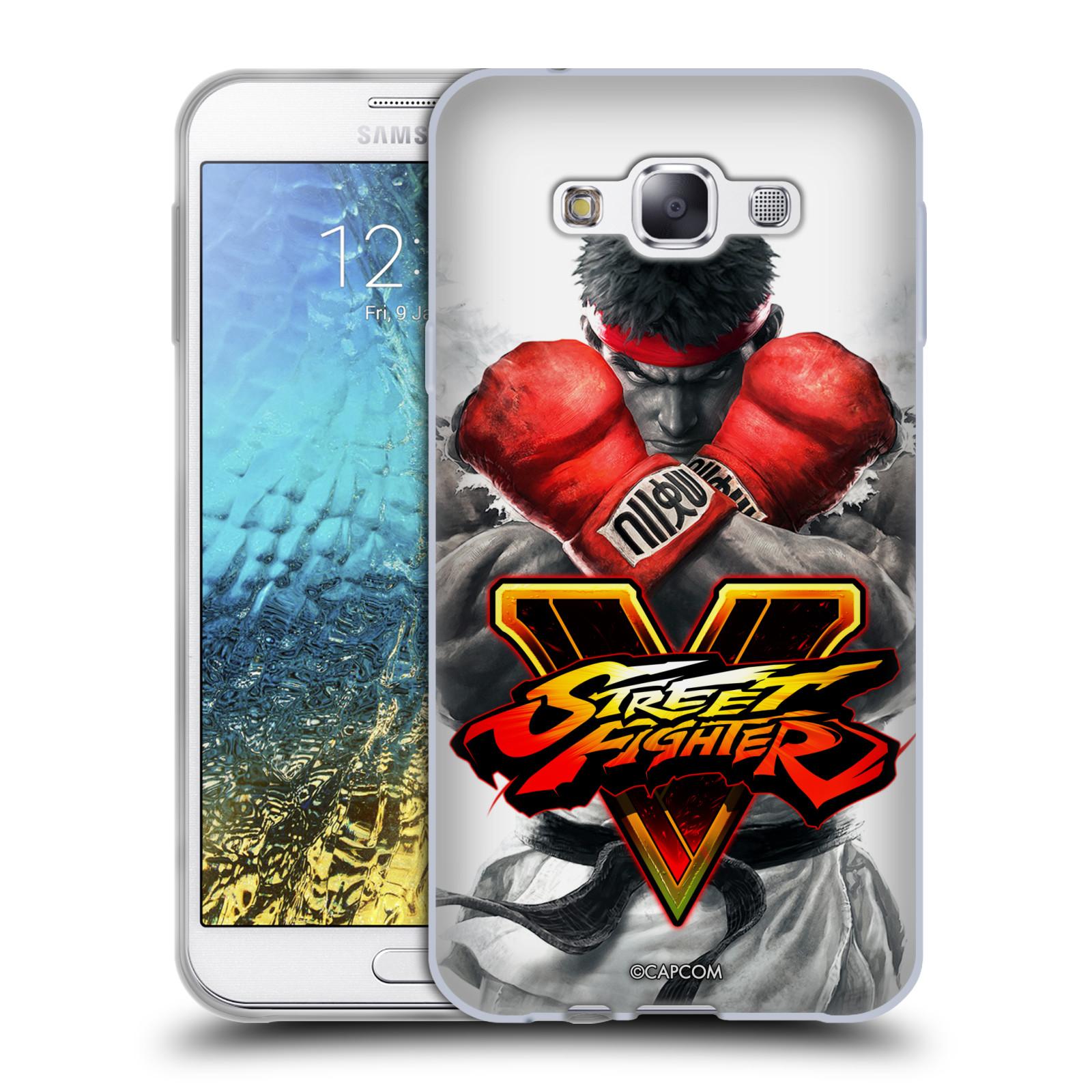 HEAD CASE silikonový obal na mobil Samsung Galaxy E7 oficiální kryt STREET FIGHTER Boxer Ryu