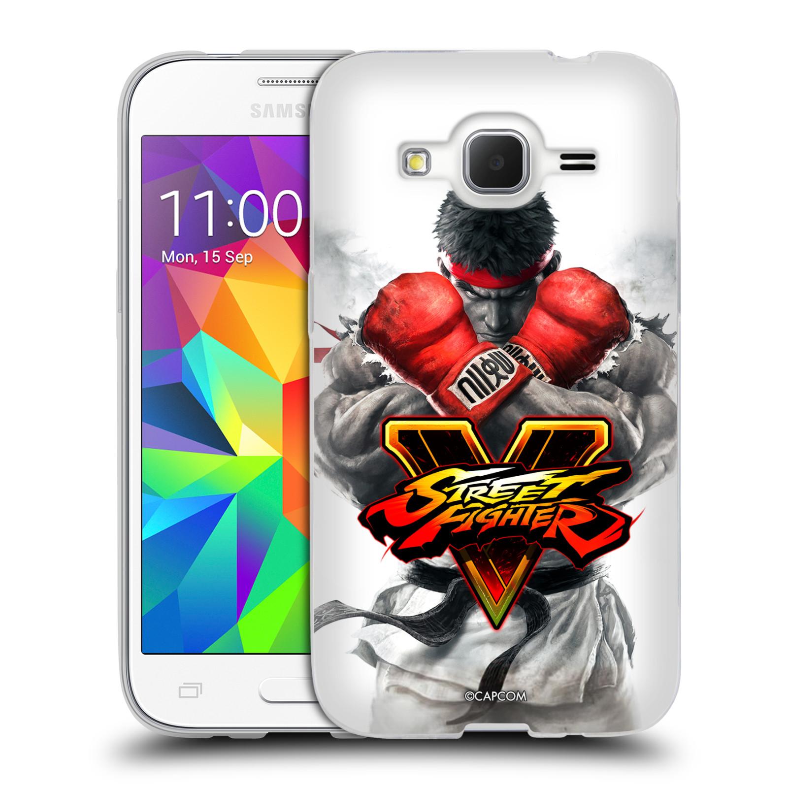 HEAD CASE silikonový obal na mobil Samsung Galaxy Core Prime (G360) oficiální kryt STREET FIGHTER Boxer Ryu
