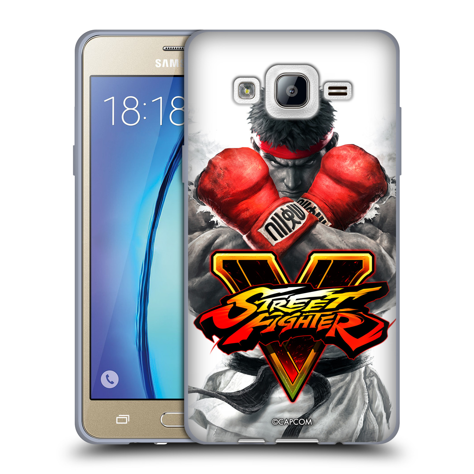 HEAD CASE silikonový obal na mobil Samsung Galaxy On5 oficiální kryt STREET FIGHTER Boxer Ryu