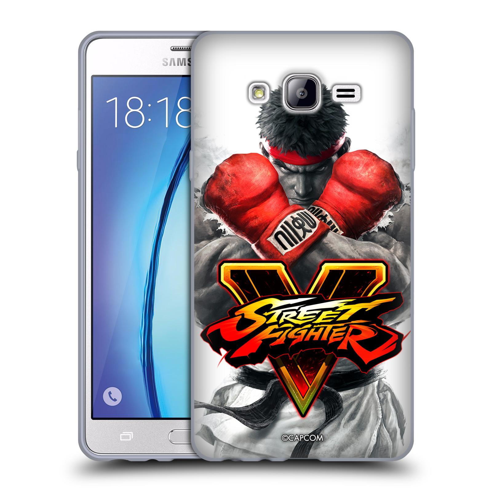 HEAD CASE silikonový obal na mobil Samsung Galaxy On7 oficiální kryt STREET FIGHTER Boxer Ryu