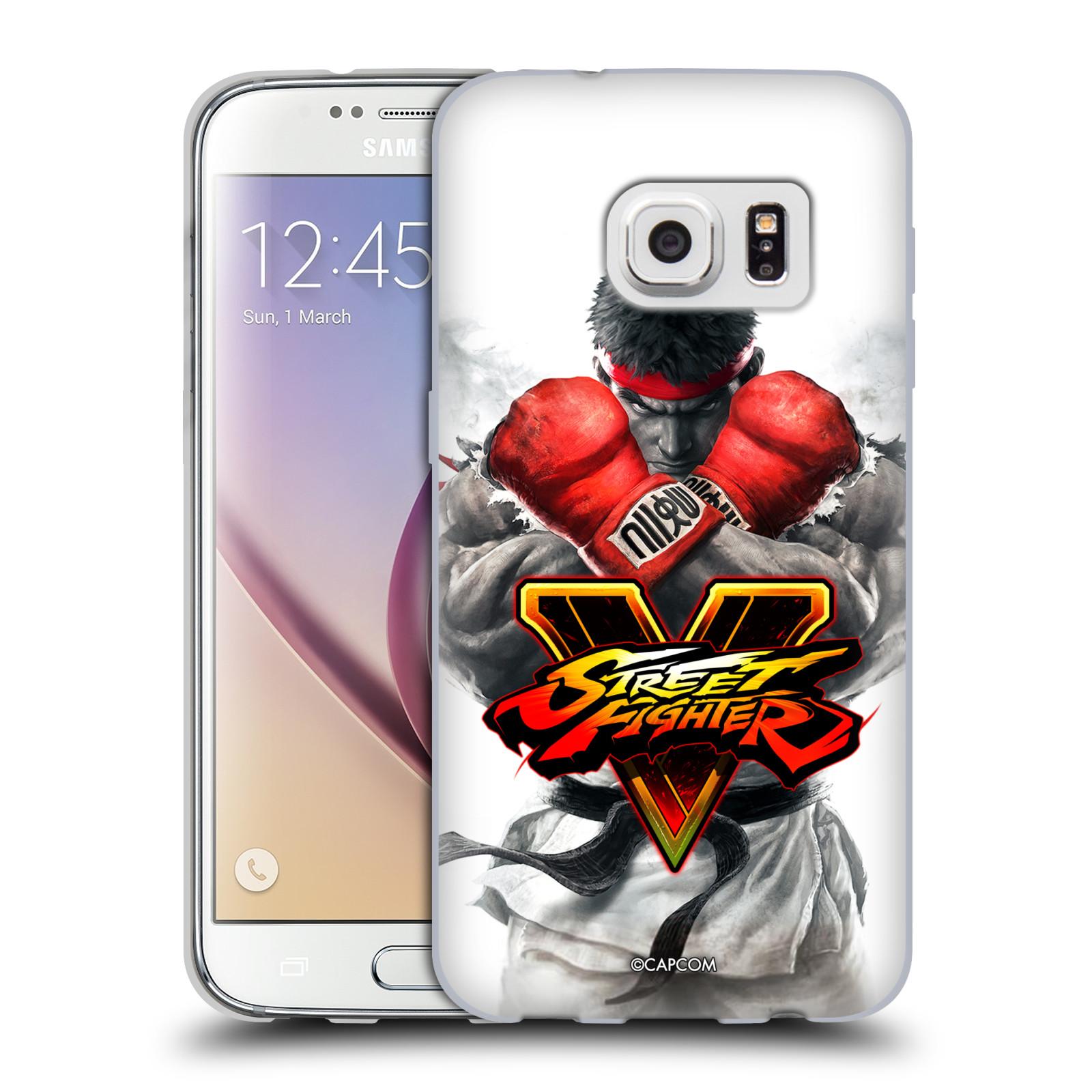 HEAD CASE silikonový obal na mobil Samsung Galaxy S7 oficiální kryt STREET FIGHTER Boxer Ryu