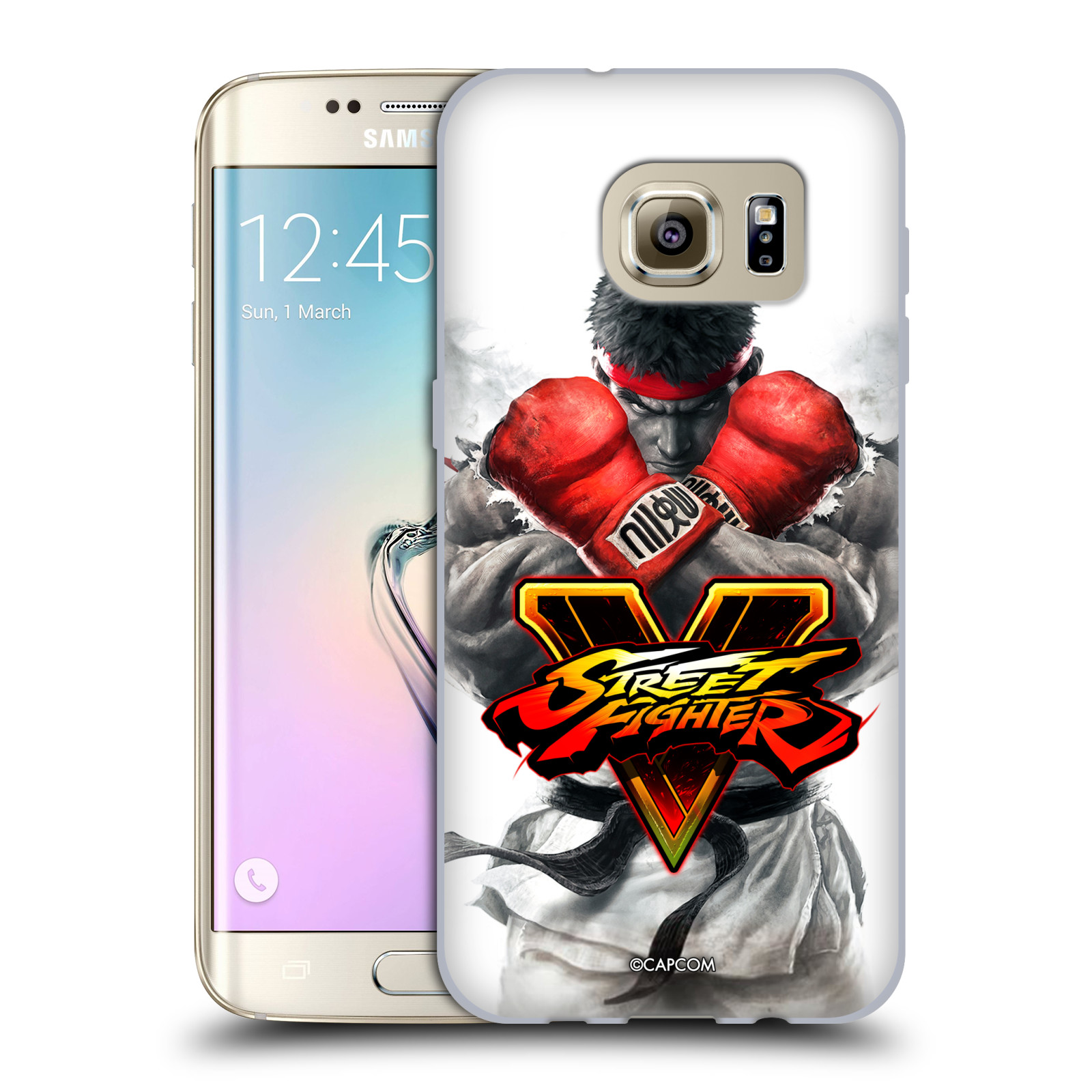 HEAD CASE silikonový obal na mobil Samsung Galaxy S7 EDGE oficiální kryt STREET FIGHTER Boxer Ryu