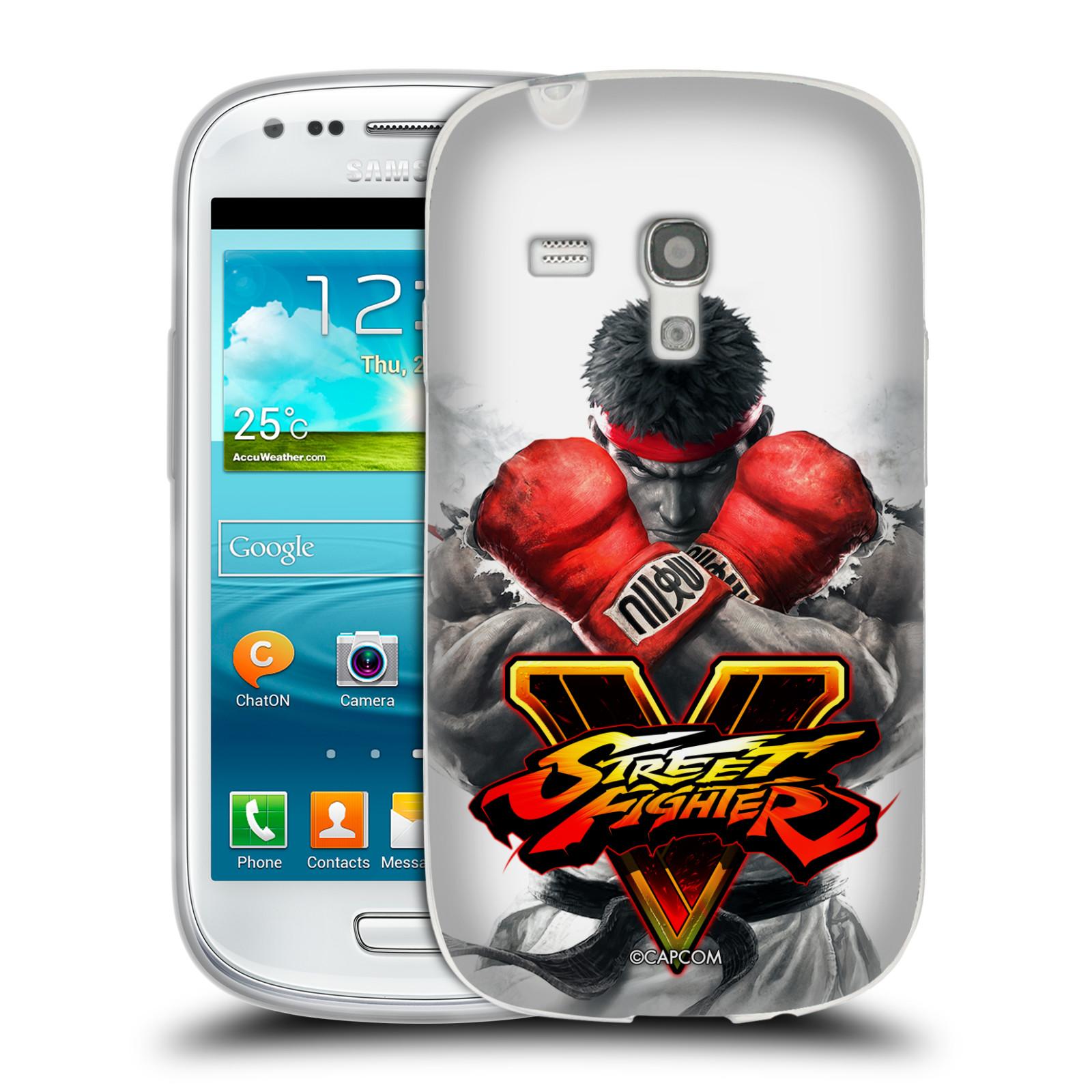 HEAD CASE silikonový obal na mobil Samsung Galaxy S3 MINI oficiální kryt STREET FIGHTER Boxer Ryu