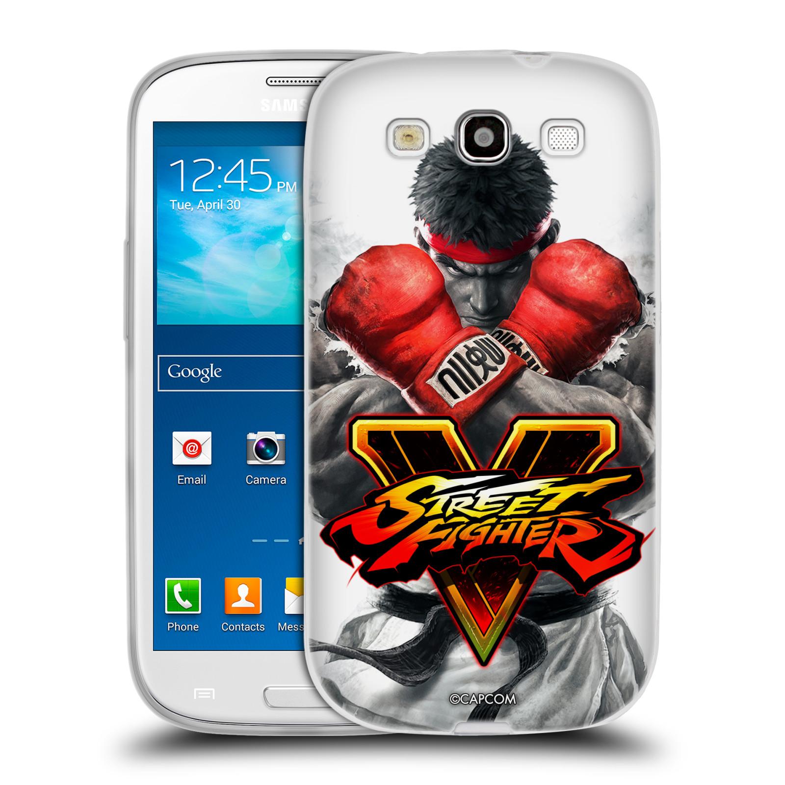 HEAD CASE silikonový obal na mobil Samsung Galaxy S3 oficiální kryt STREET FIGHTER Boxer Ryu