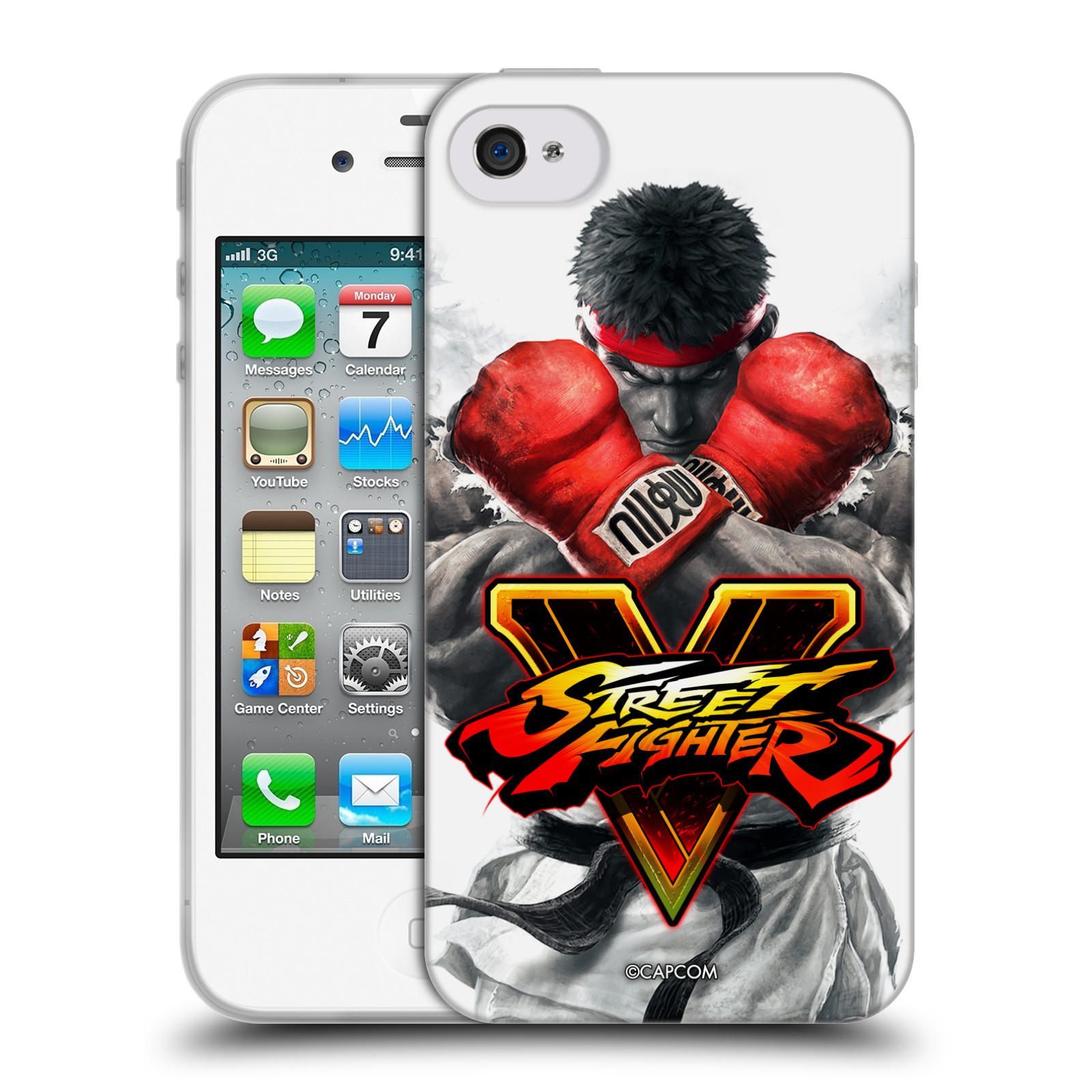 HEAD CASE silikonový obal na mobil Apple Iphone 4/4S oficiální kryt STREET FIGHTER Boxer Ryu