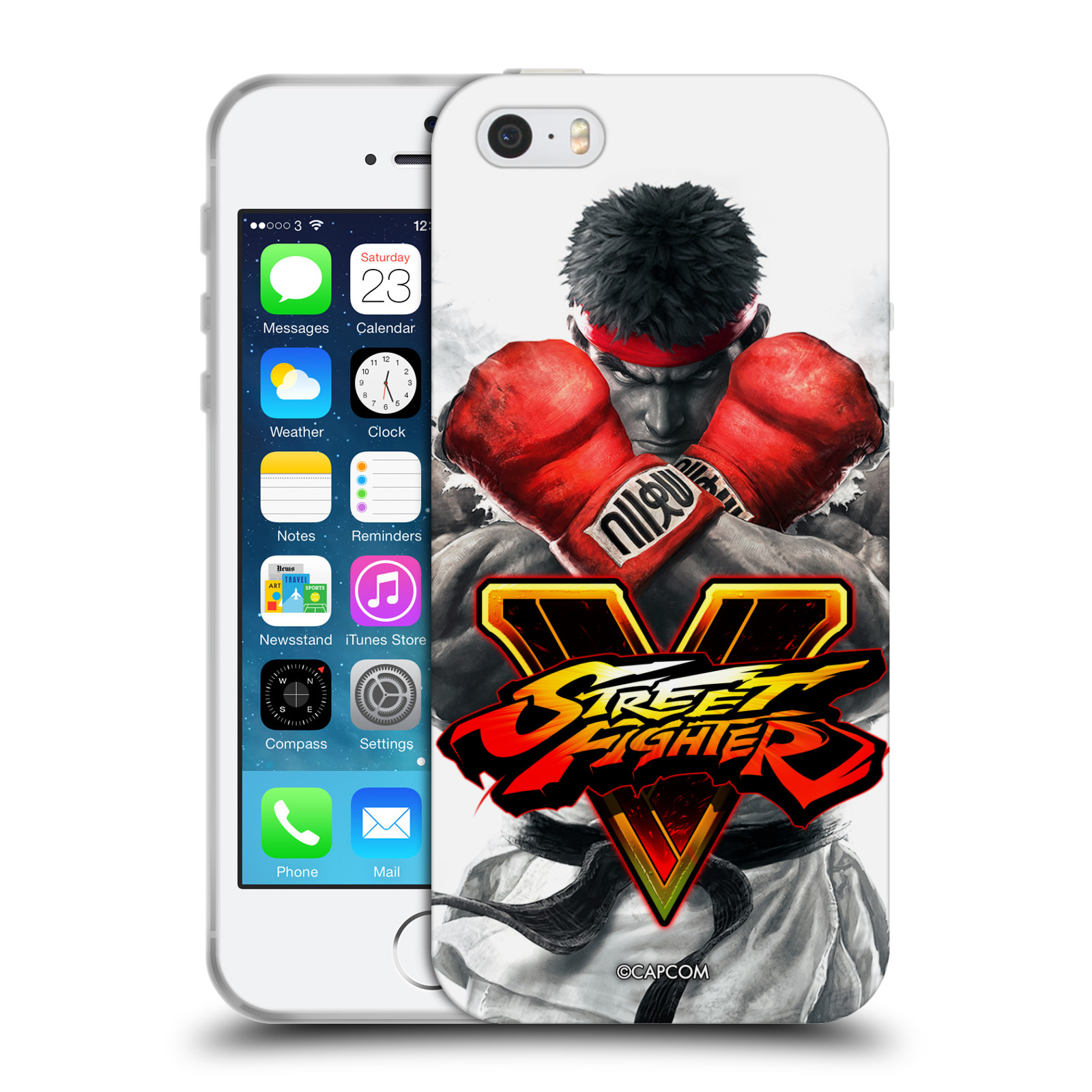 HEAD CASE silikonový obal na mobil Apple Iphone 5/5S oficiální kryt STREET FIGHTER Boxer Ryu