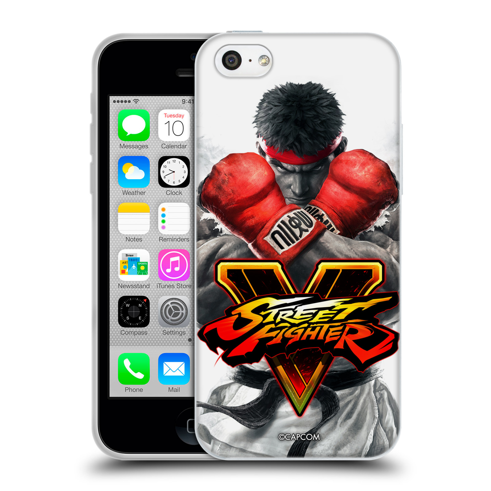 HEAD CASE silikonový obal na mobil Apple Iphone 5C oficiální kryt STREET FIGHTER Boxer Ryu