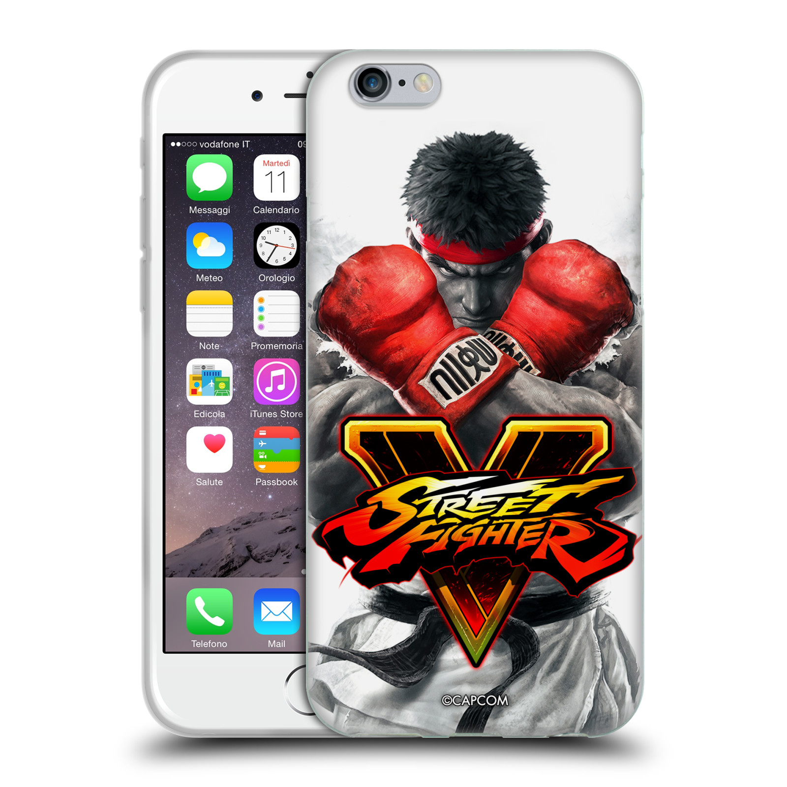 HEAD CASE silikonový obal na mobil Apple Iphone 6/6S oficiální kryt STREET FIGHTER Boxer Ryu