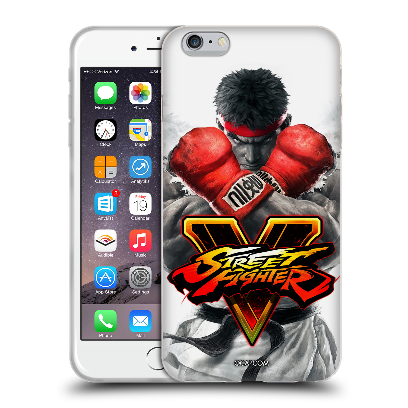 HEAD CASE silikonový obal na mobil Apple Iphone 6/6S PLUS oficiální kryt STREET FIGHTER Boxer Ryu