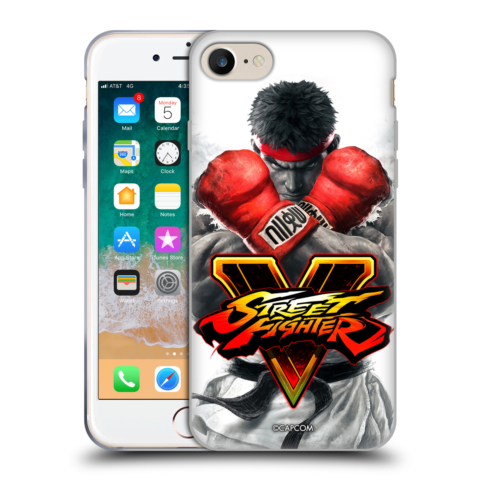 HEAD CASE silikonový obal na mobil Apple Iphone 7 oficiální kryt STREET FIGHTER Boxer Ryu