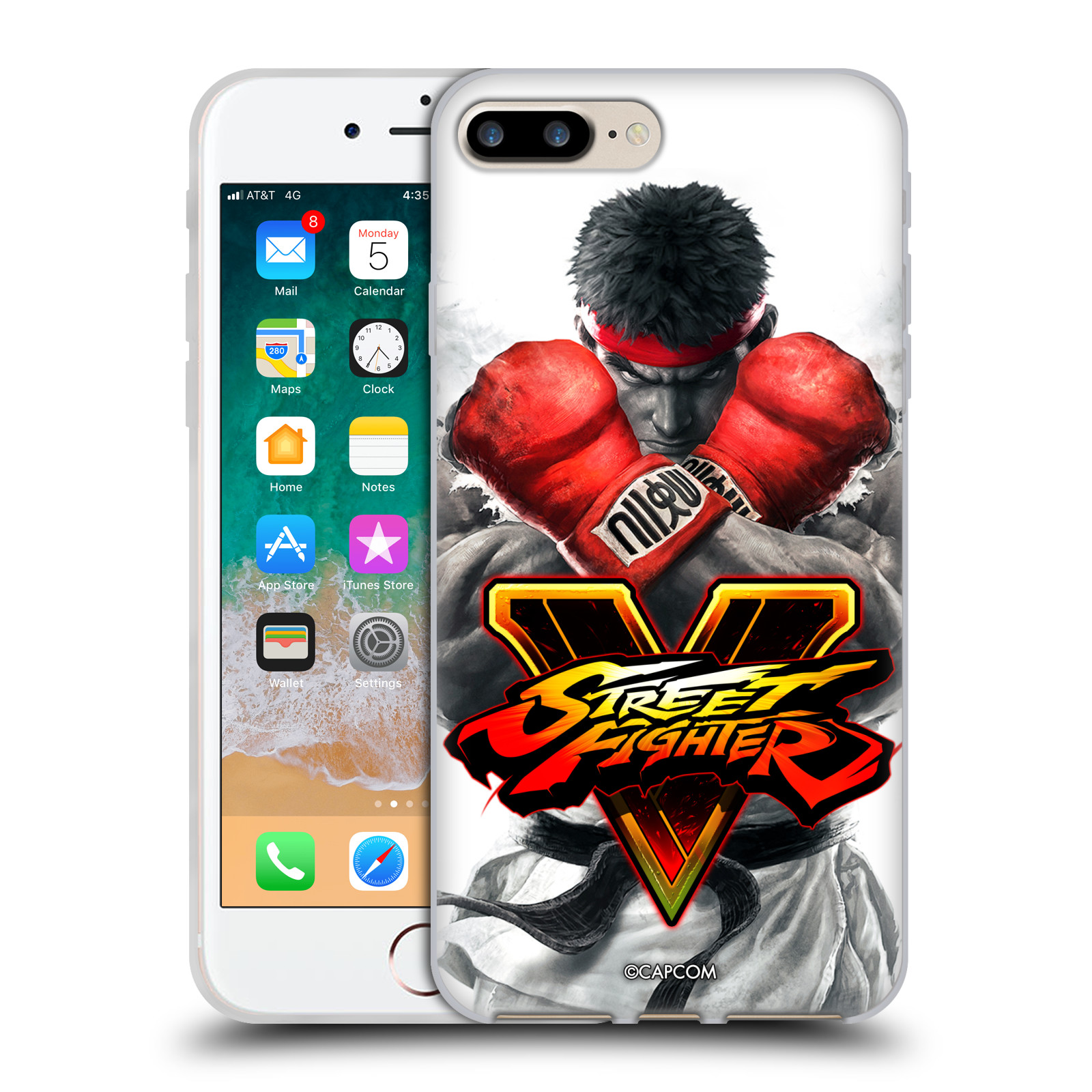 HEAD CASE silikonový obal na mobil Apple Iphone 7 PLUS oficiální kryt STREET FIGHTER Boxer Ryu