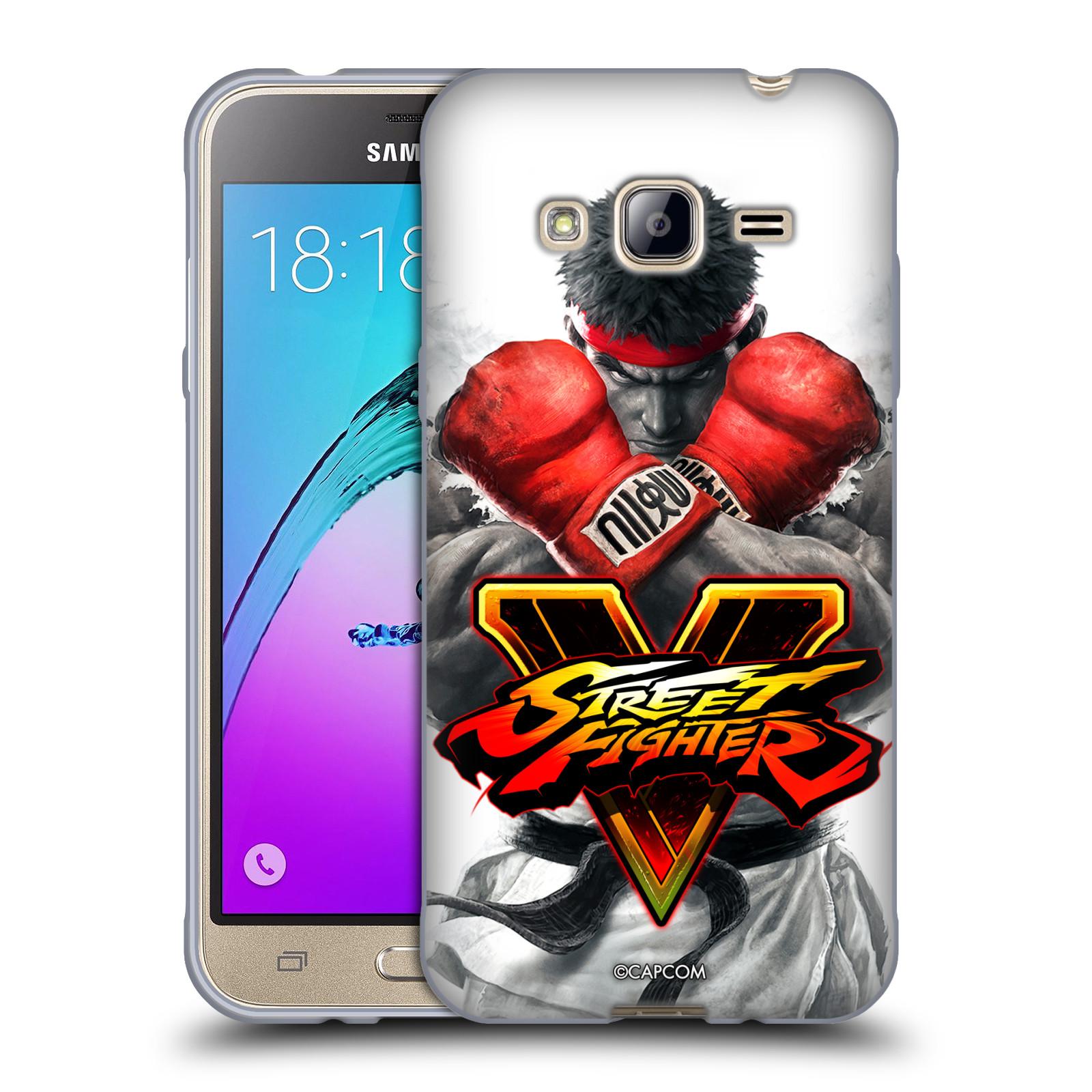 HEAD CASE silikonový obal na mobil Samsung Galaxy J3, J3 2016 oficiální kryt STREET FIGHTER Boxer Ryu