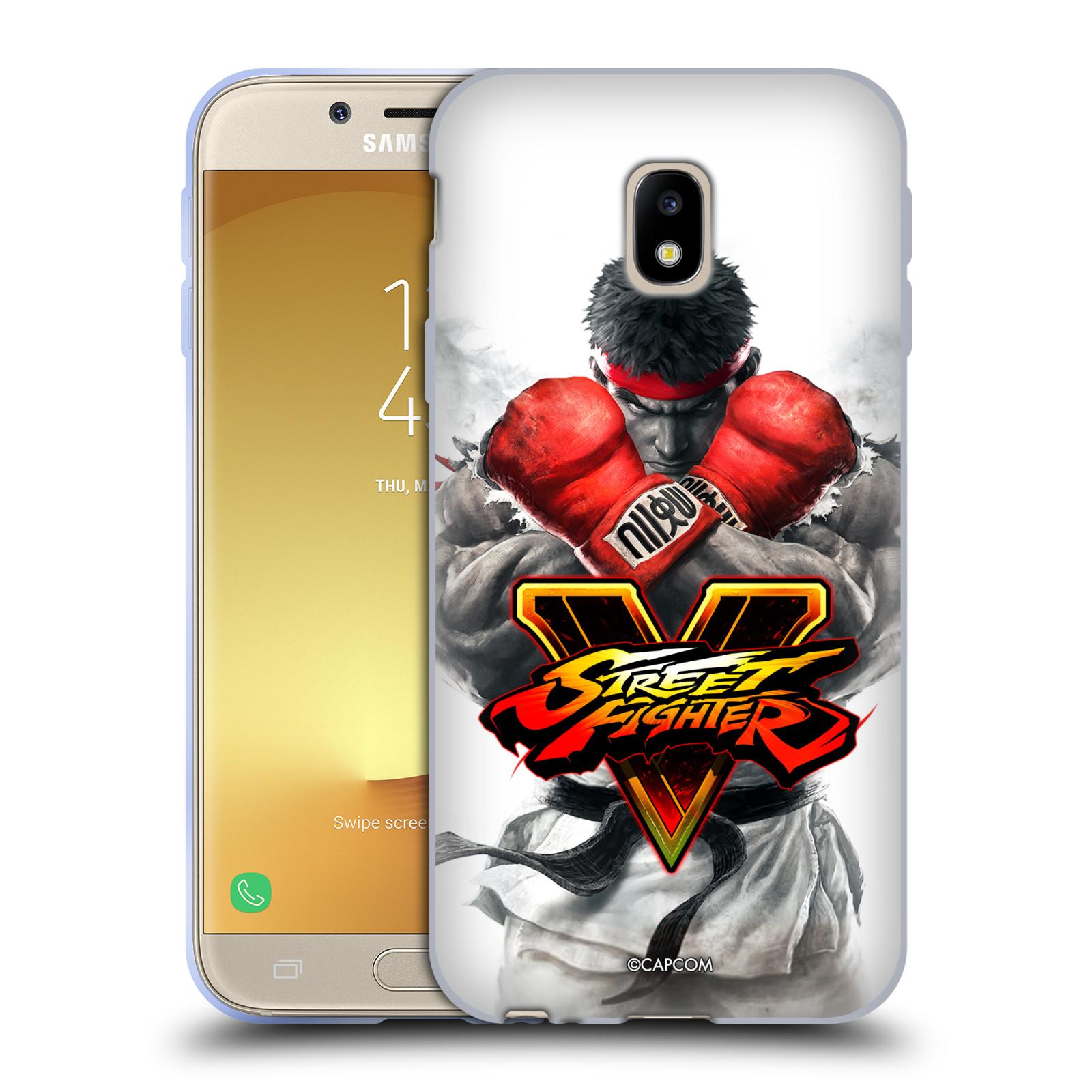 HEAD CASE silikonový obal na mobil Samsung Galaxy J3 2017 (J330, J330F) oficiální kryt STREET FIGHTER Boxer Ryu