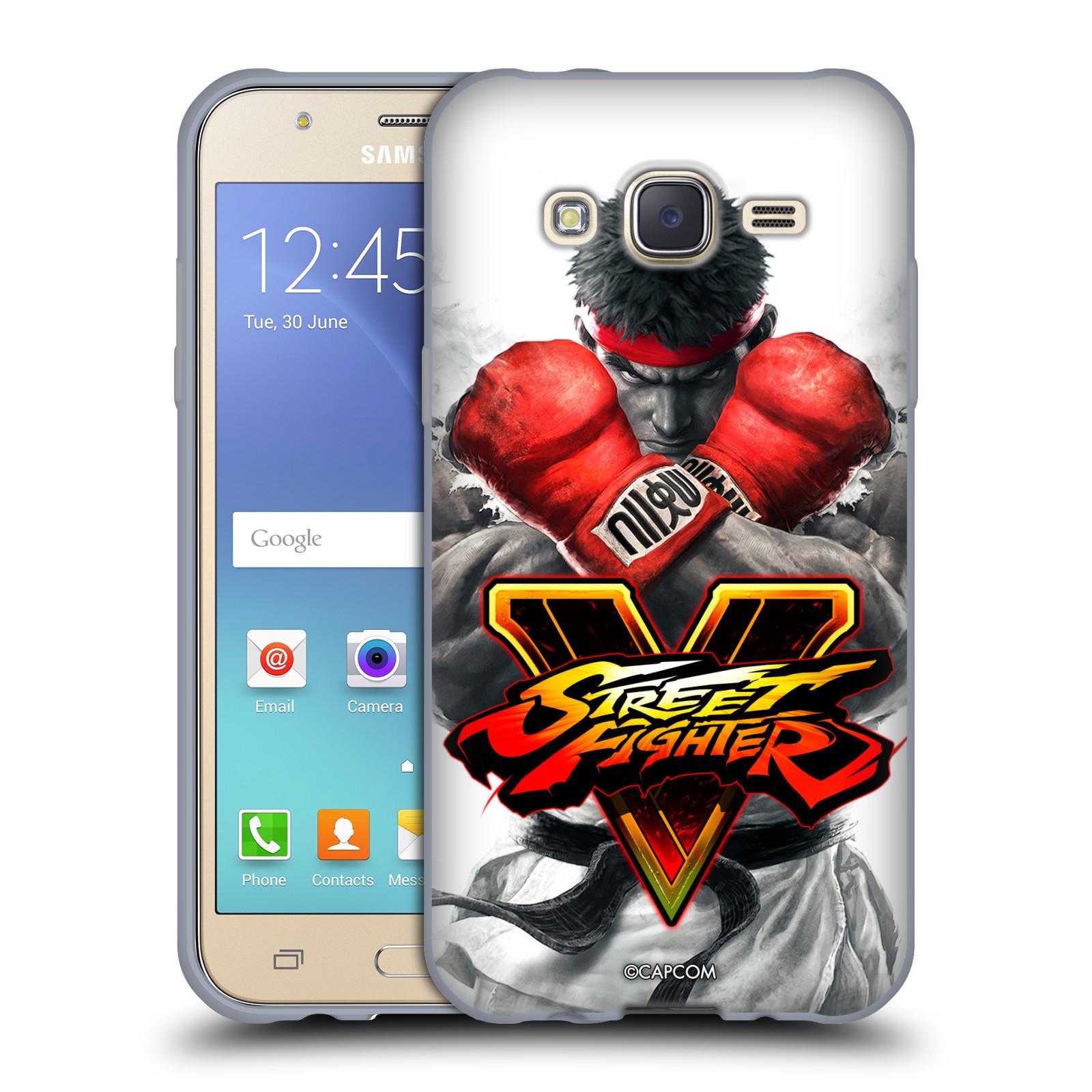 HEAD CASE silikonový obal na mobil Samsung Galaxy J5 2015 (J500) oficiální kryt STREET FIGHTER Boxer Ryu